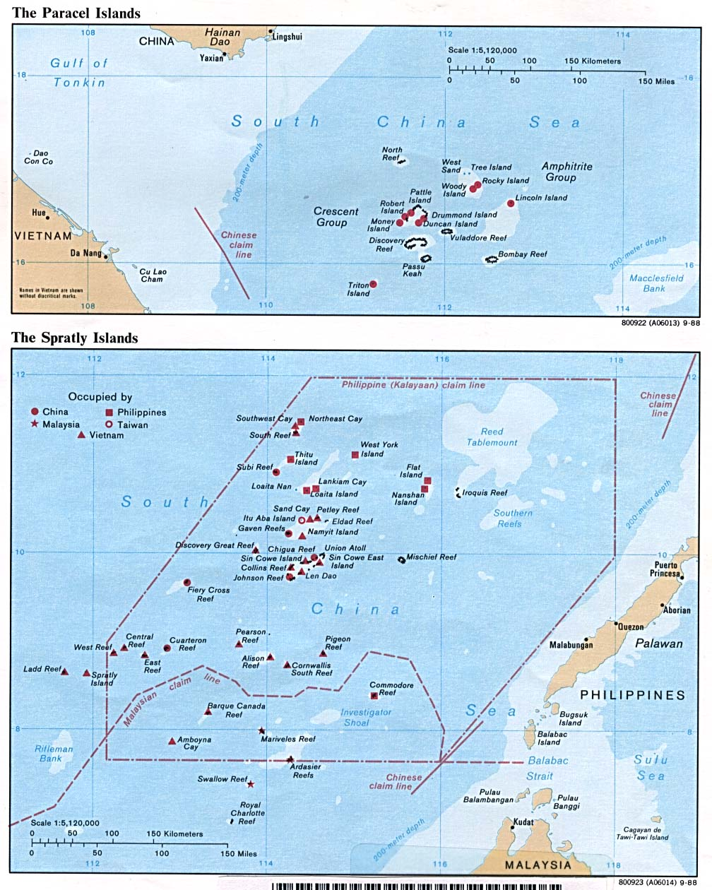 Map Of Paracel Islands Spratly Islands Maps   Perry Castañeda Map Collection   UT Library