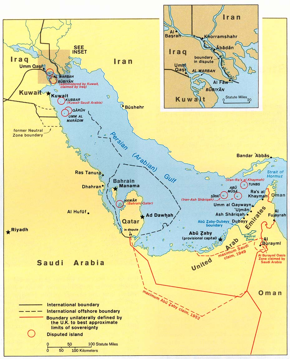 Persian Gulf Map Middle East