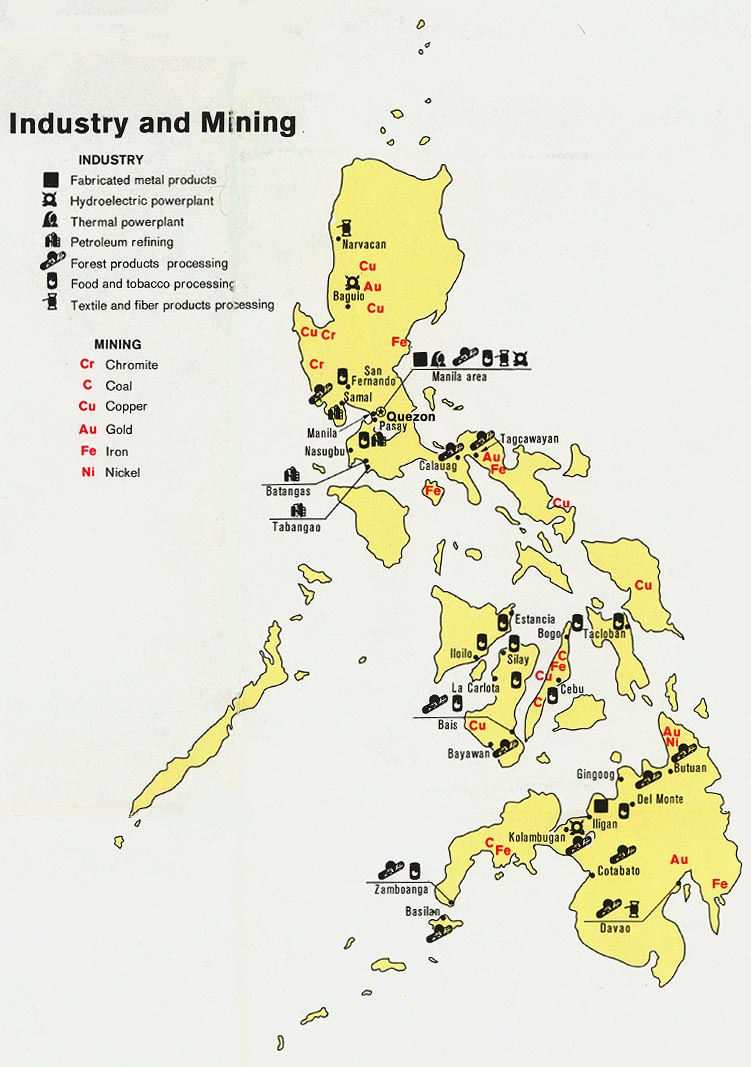 Philippines maps perry castaeda map collection ut library online philippines industry and mining gumiabroncs Image collections