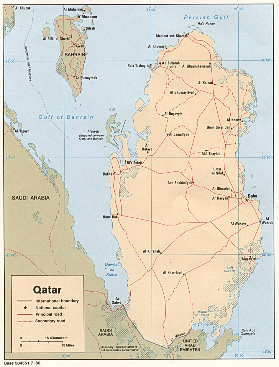 Qatar Maps  PerryCastaeda Map Collection  UT Library Online