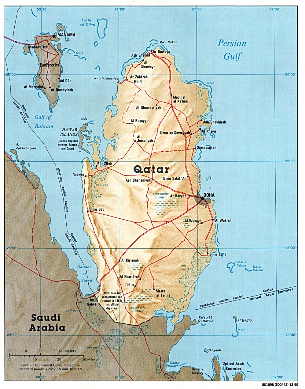 Qatar Maps - Perry-Castañeda Map Collection - UT Liry Online on