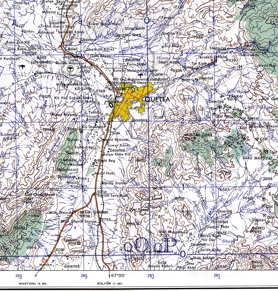 Pakistan maps perry castaeda map collection ut library online quetta topographic gumiabroncs Image collections