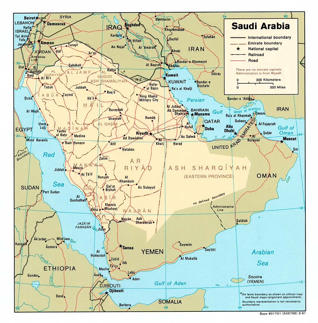 Saudi Arabia Maps Perry Castaneda Map Collection Ut Library Online