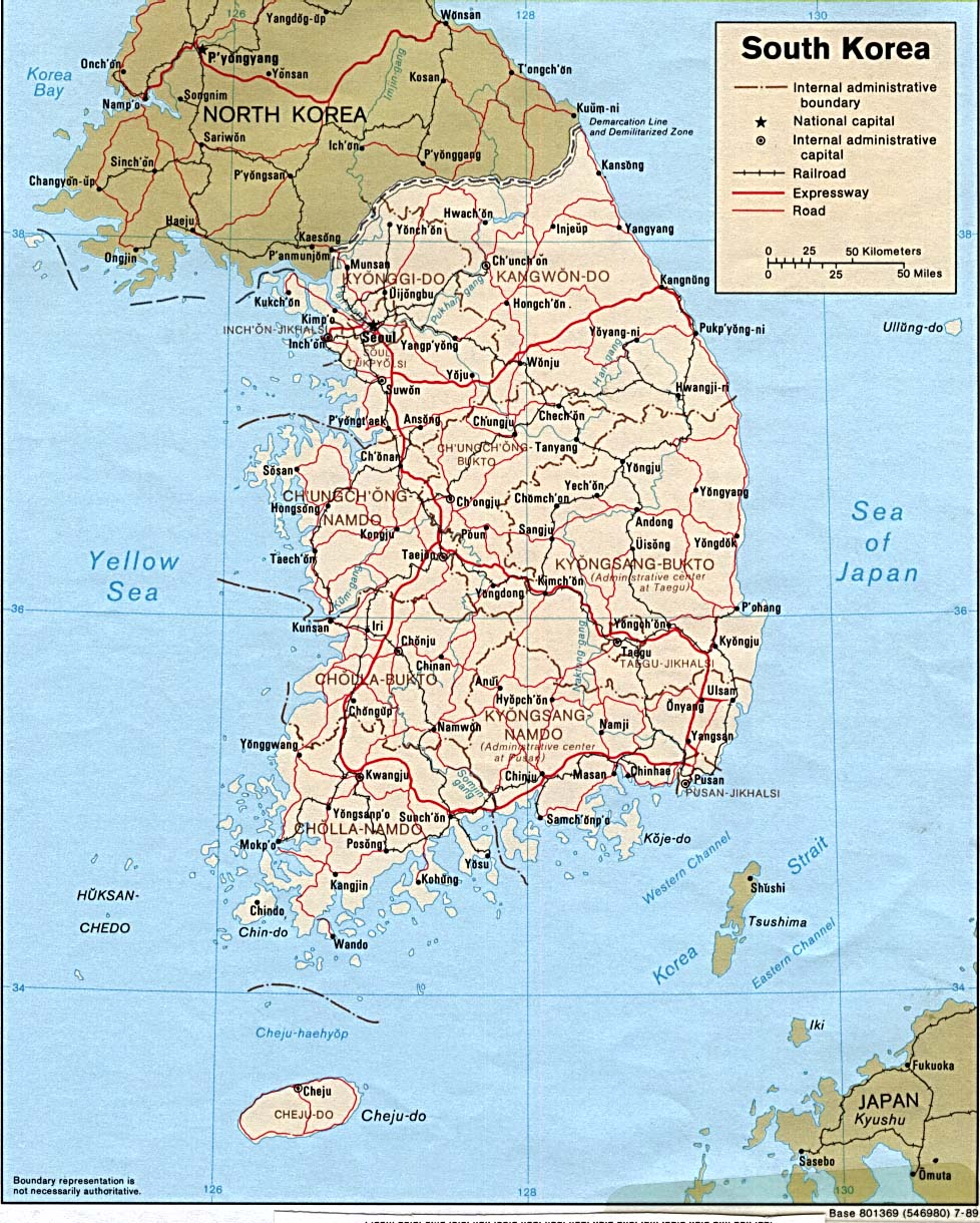 Natural Resources In South Korea Map