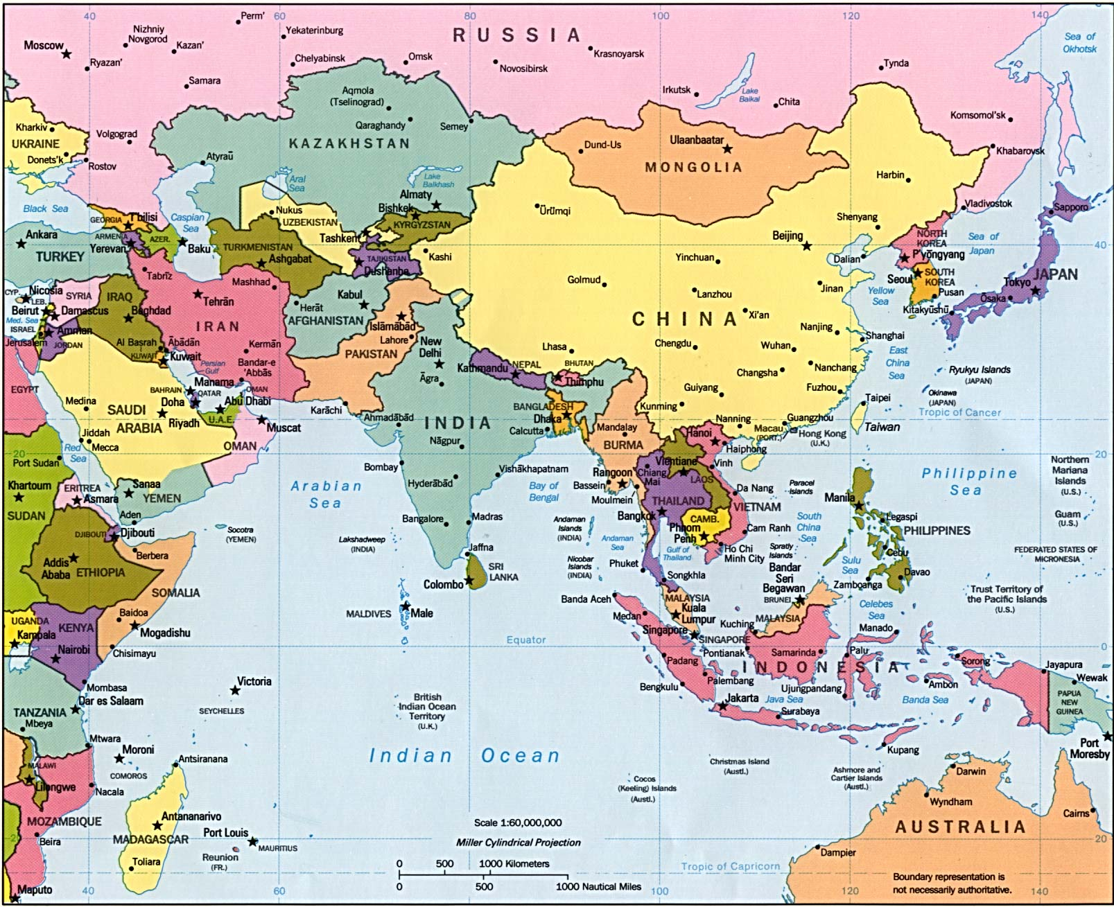 Asien In Karten Ein Link Atlas