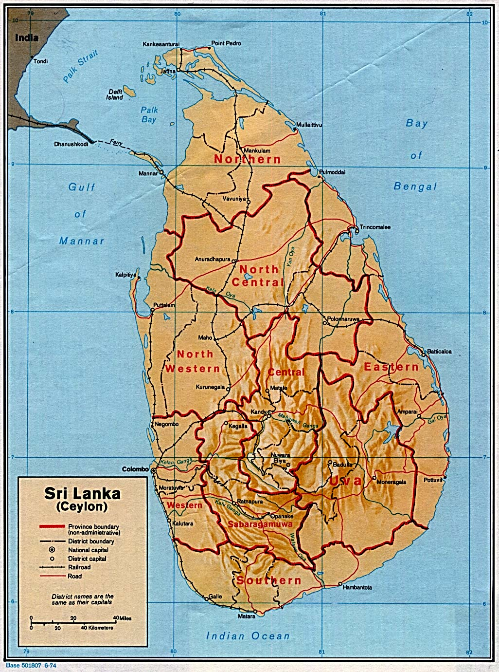 Sri Lanka Maps - Perry-Castañeda Map Collection - UT Library Online