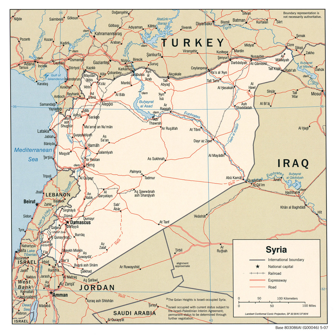 Syria maps perry castaeda map collection ut library online syria maps gumiabroncs Images