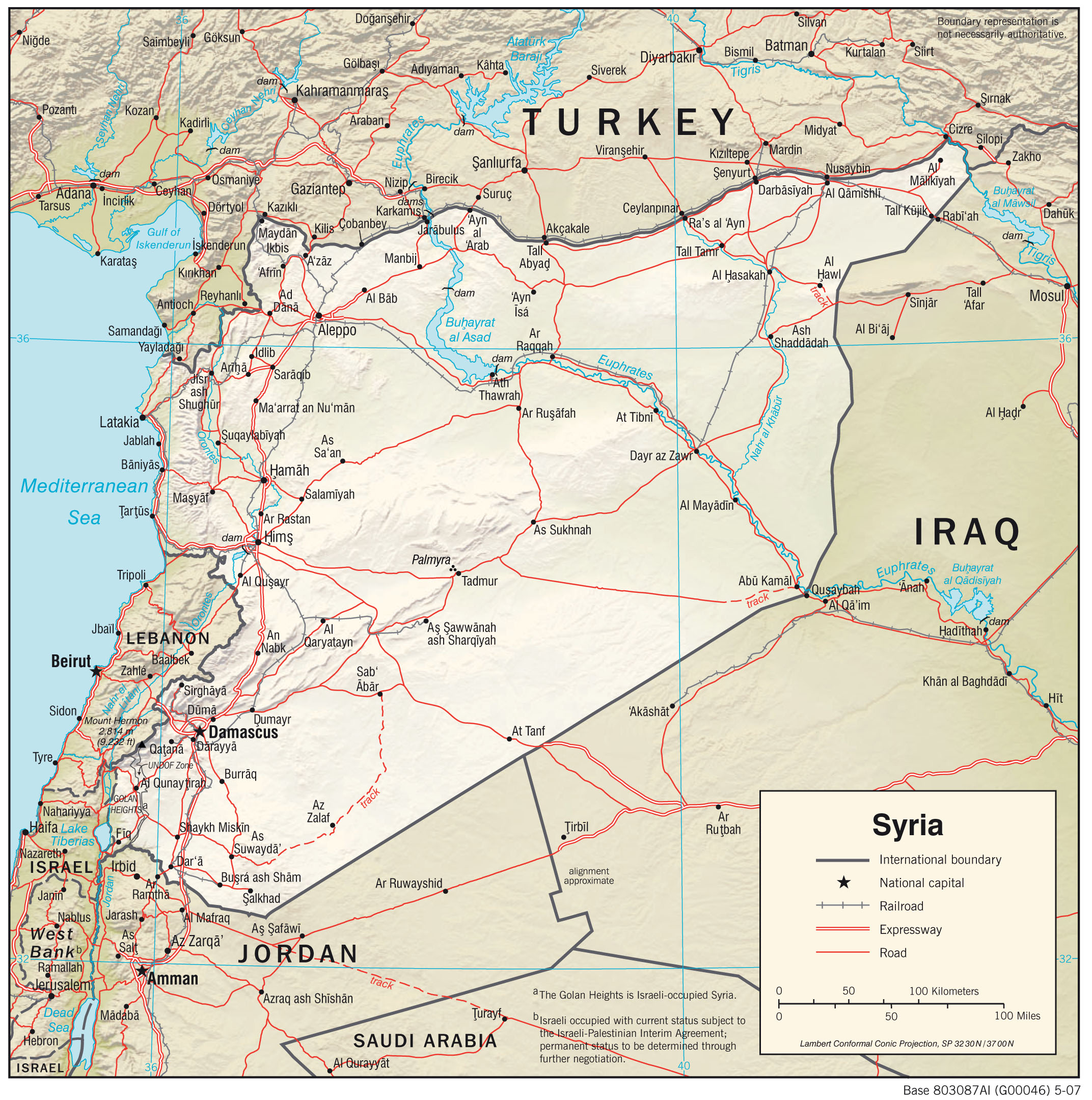 Syria Maps PerryCastañeda Map Collection UT Library Online - Map of syria and turkey