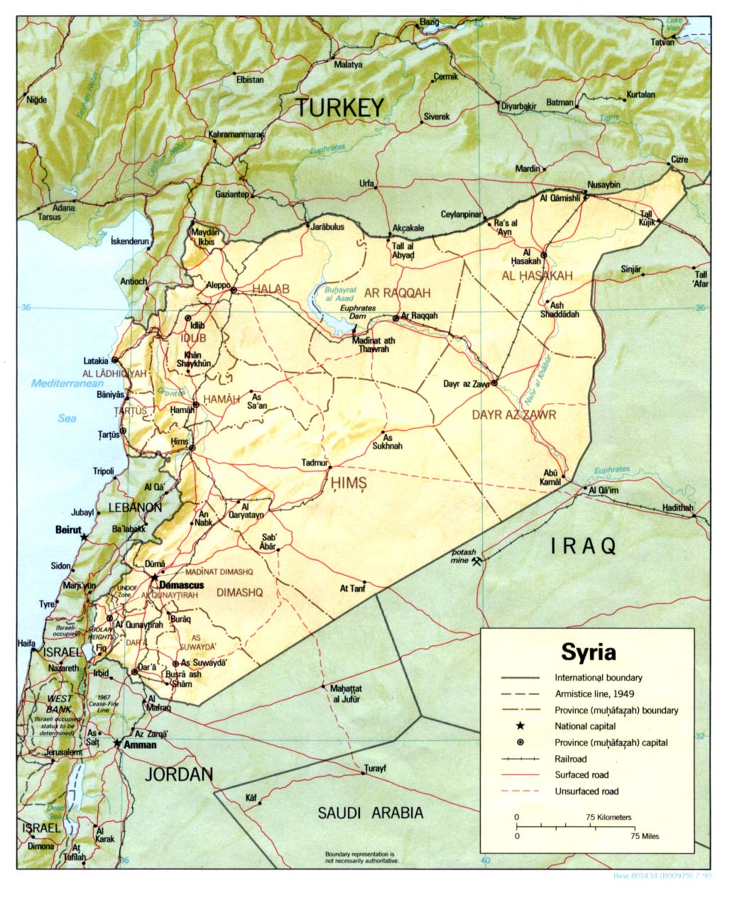 Syria Maps PerryCastañeda Map Collection UT Library Online - Where is syria located on the map