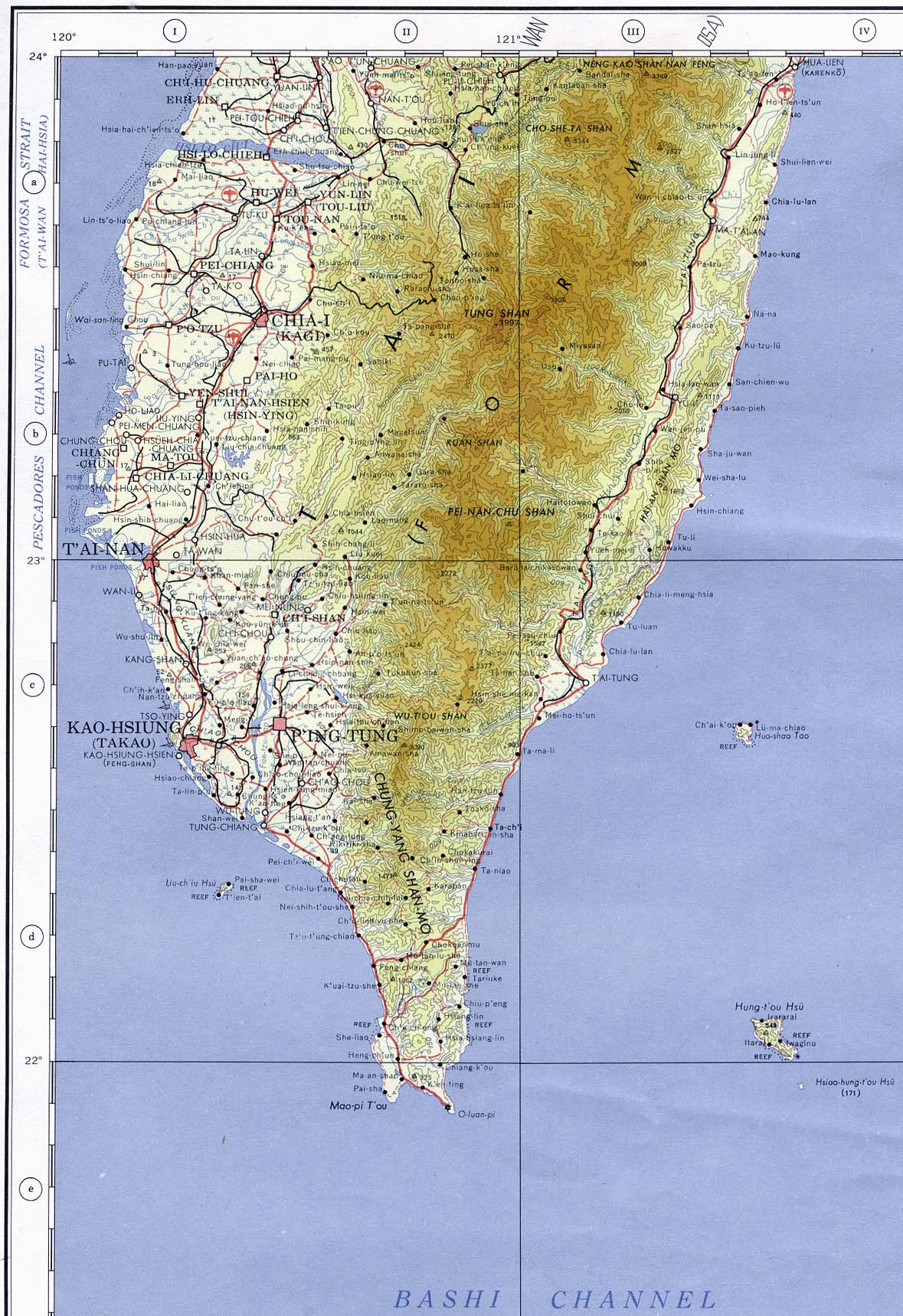 Taiwan Maps PerryCastañeda Map Collection UT Library Online - Taiwan map