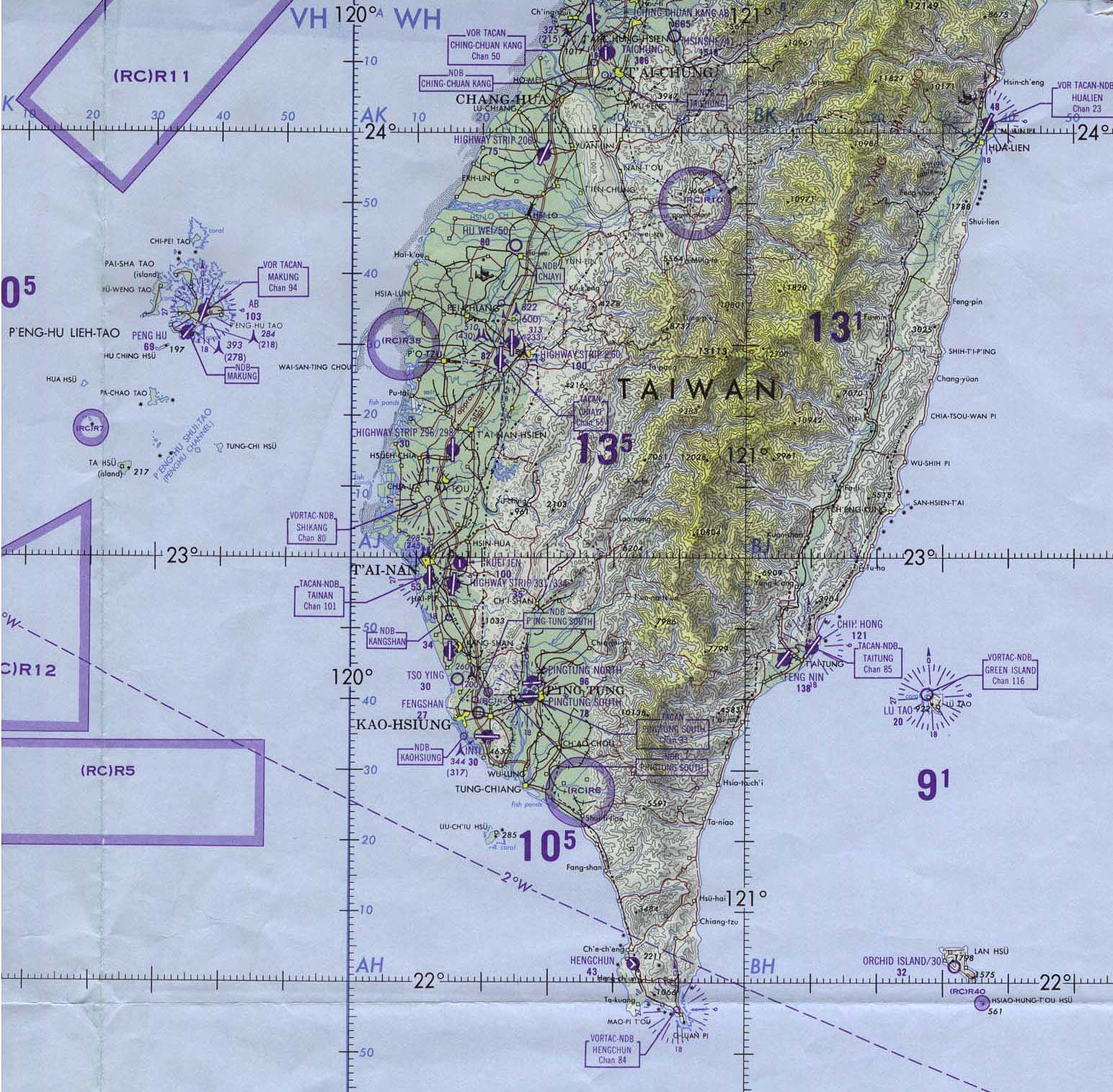 Taiwan maps perry castaeda map collection ut library online southern taiwan operational navigation chart gumiabroncs Choice Image
