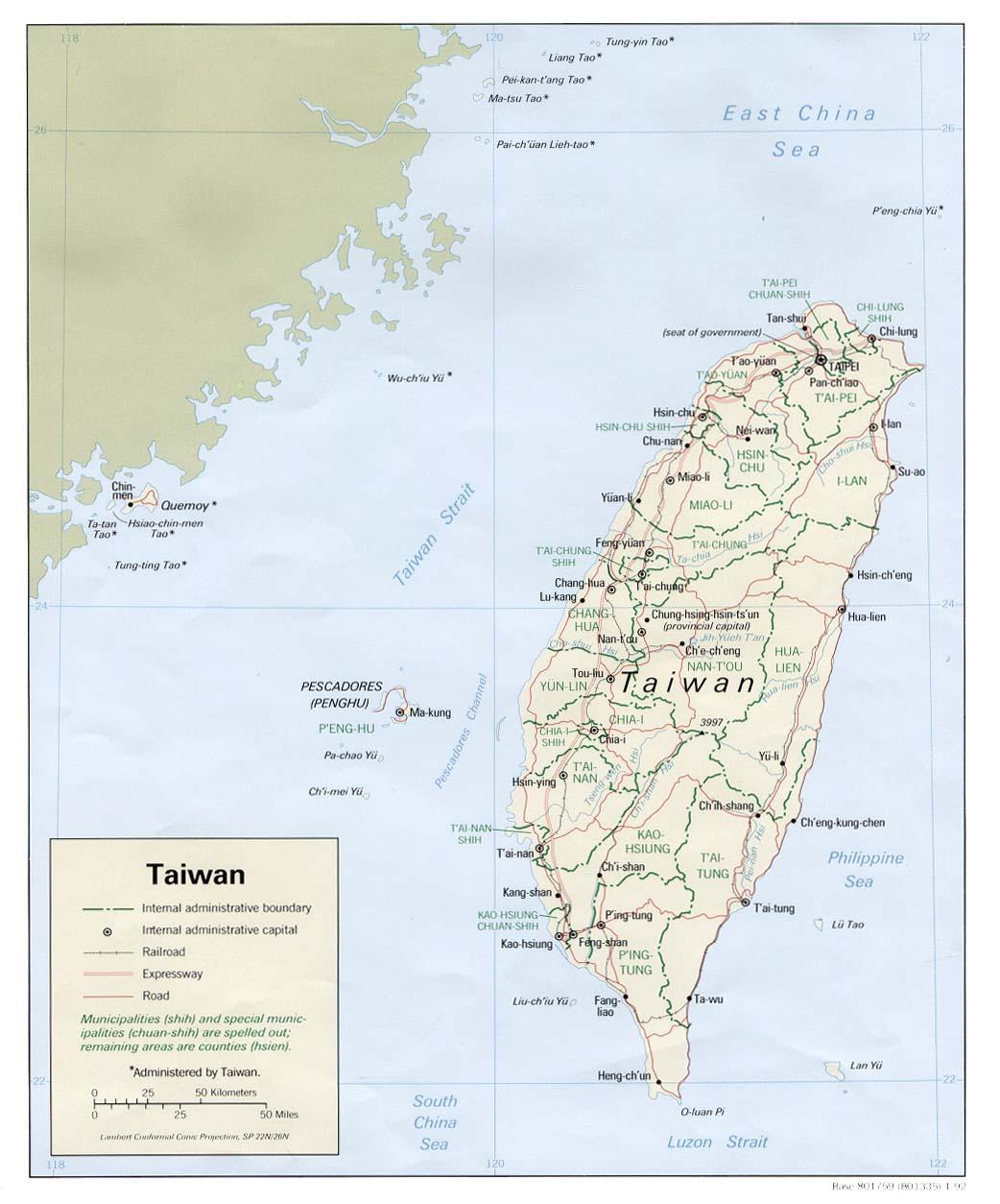 WHKMLA : Historical Atlas, Taiwan Page
