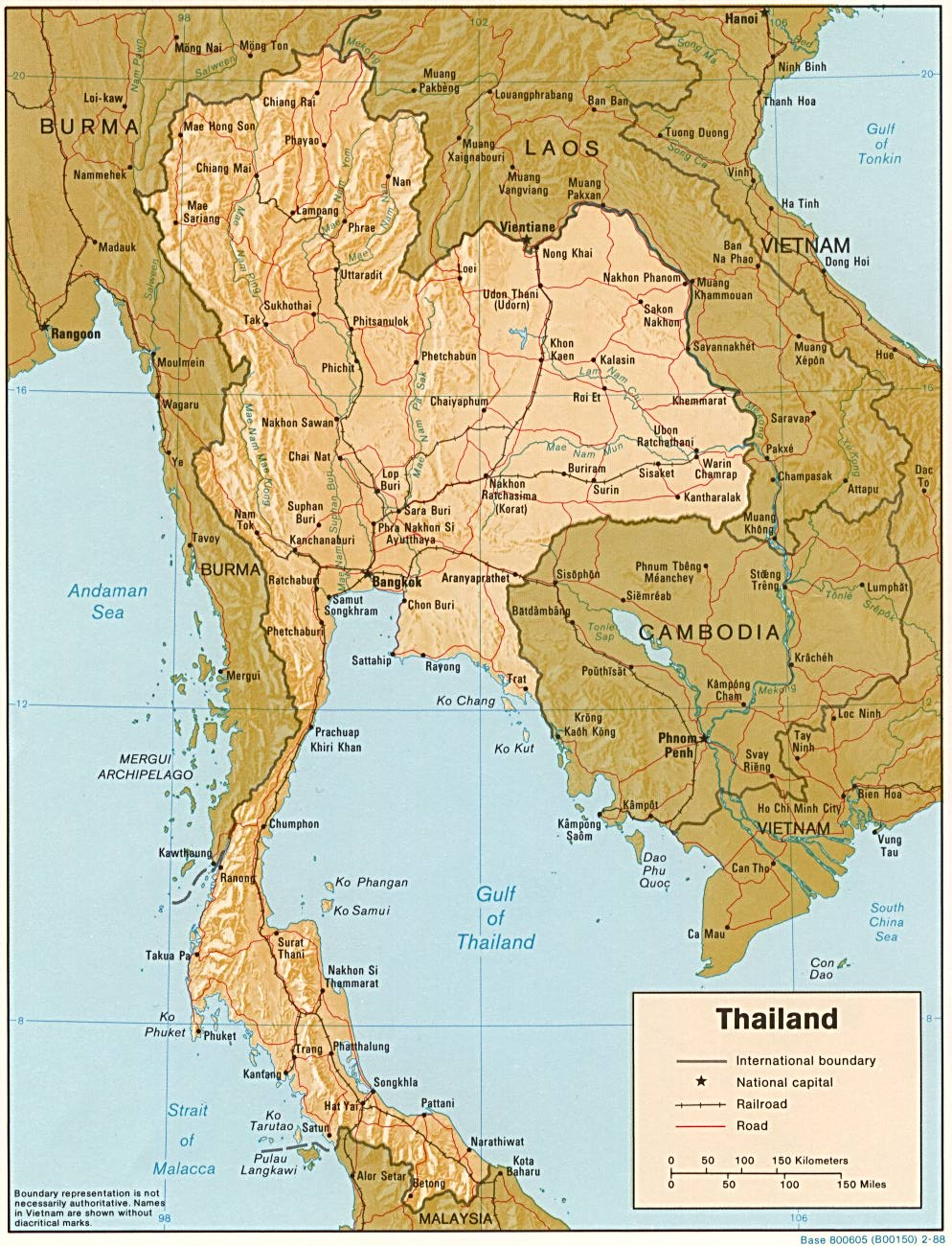 Thailand Maps Perry Castaneda Map Collection Ut Library Online