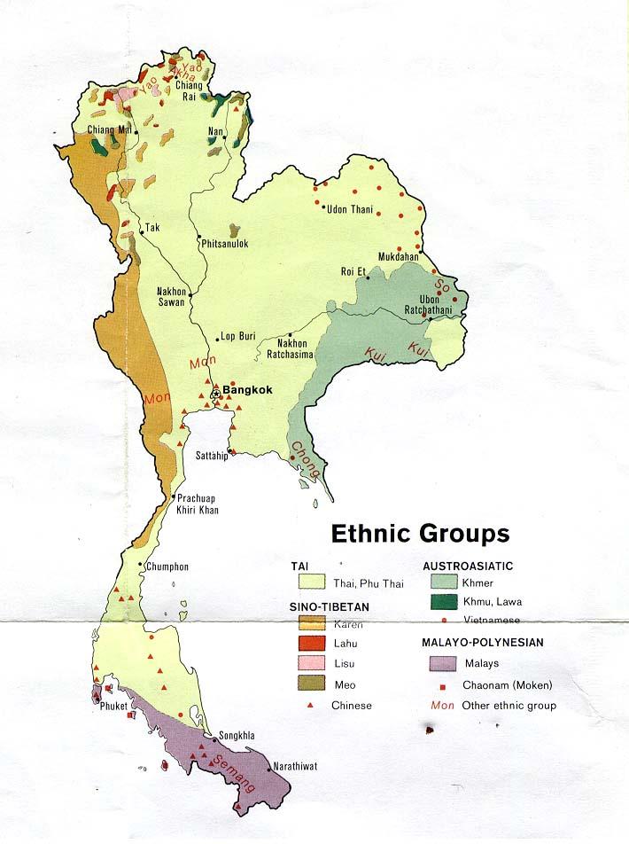 Pattani Thailand Map.Thailand