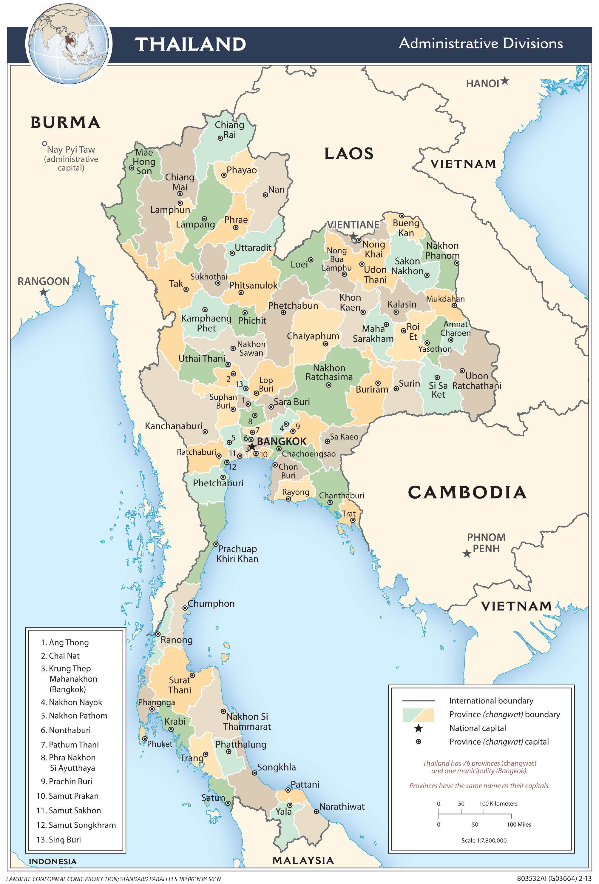 Thailand (Administrative ...