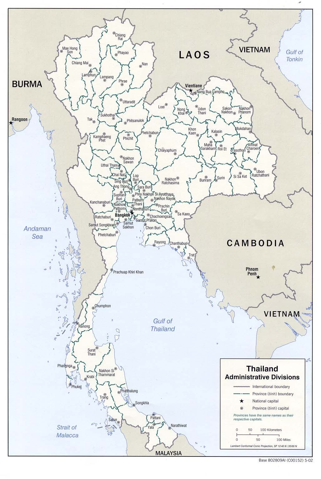 Thailand Maps PerryCastañeda Map Collection UT Library Online - Thailand map