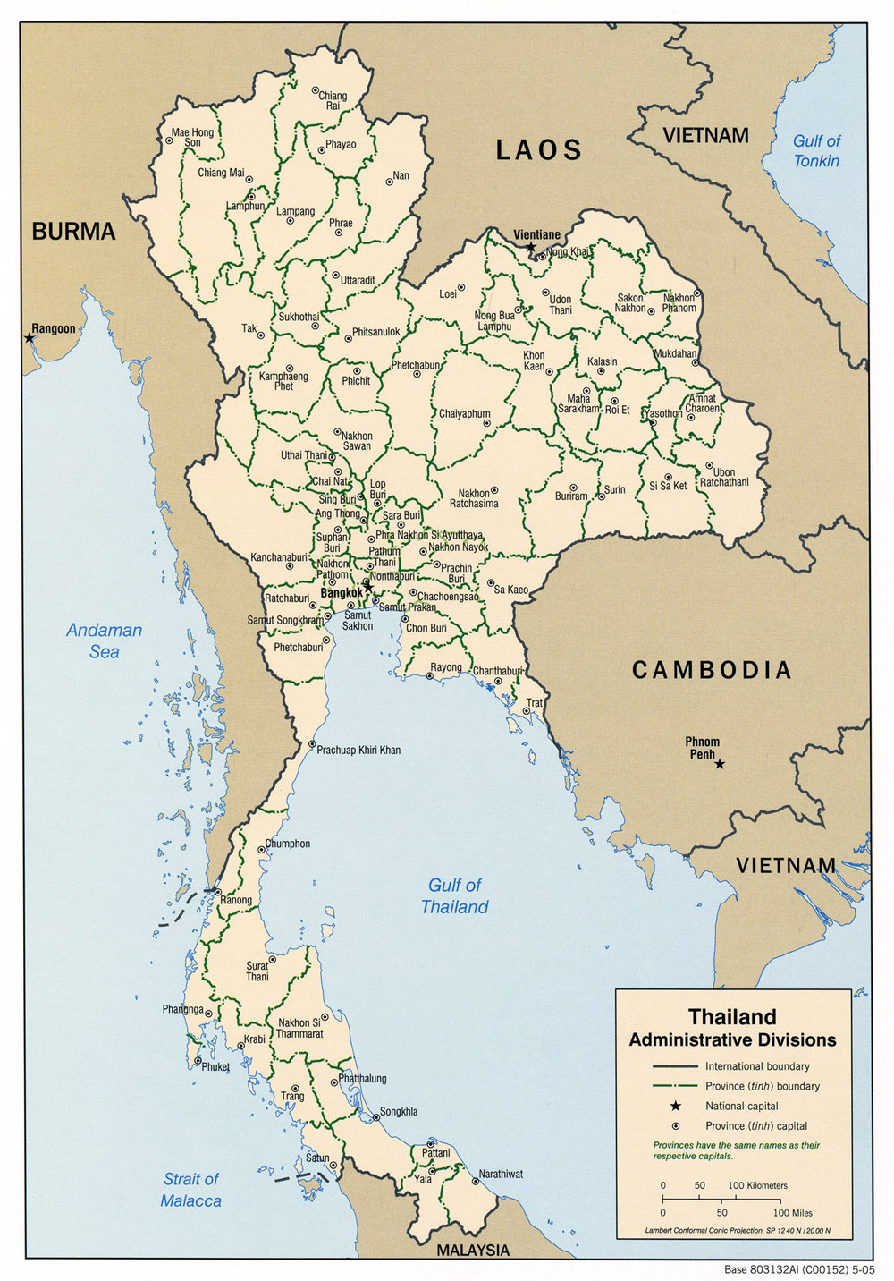 Thailand Maps - Perry-...