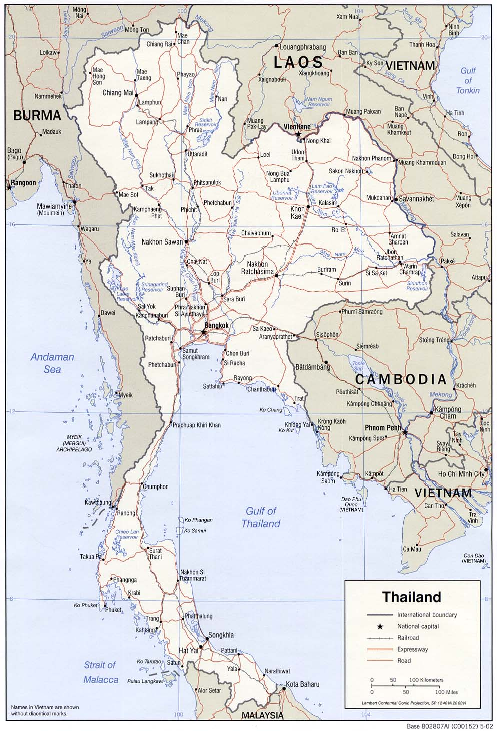 Thailand Karte.Thailand Maps Perry Castañeda Map Collection Ut Library Online
