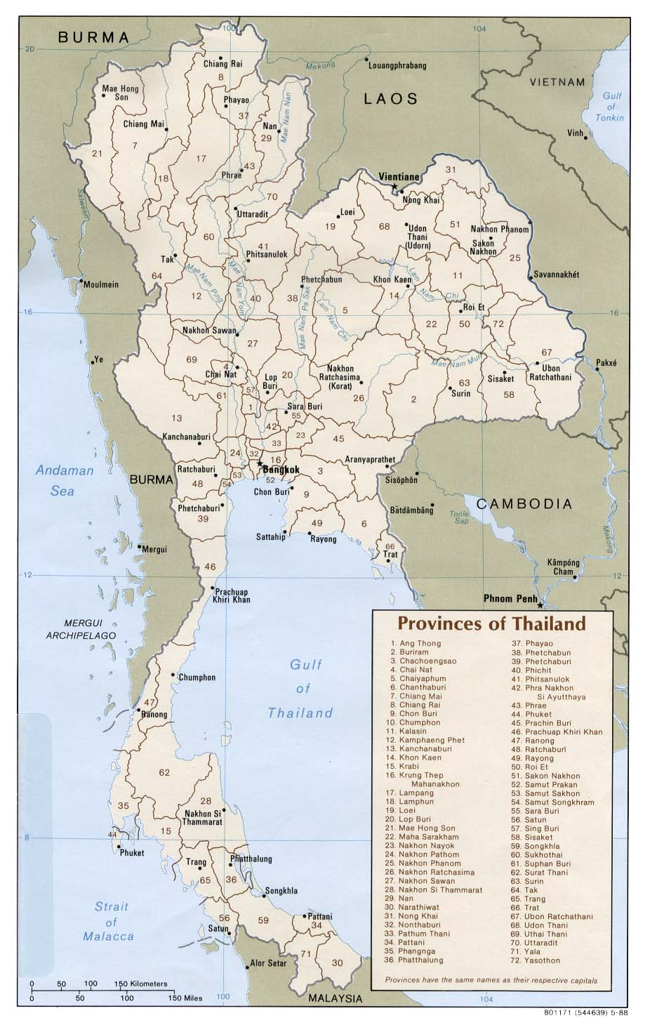 Thailand Maps - Perry-Castañeda Map Collection - UT Library Online