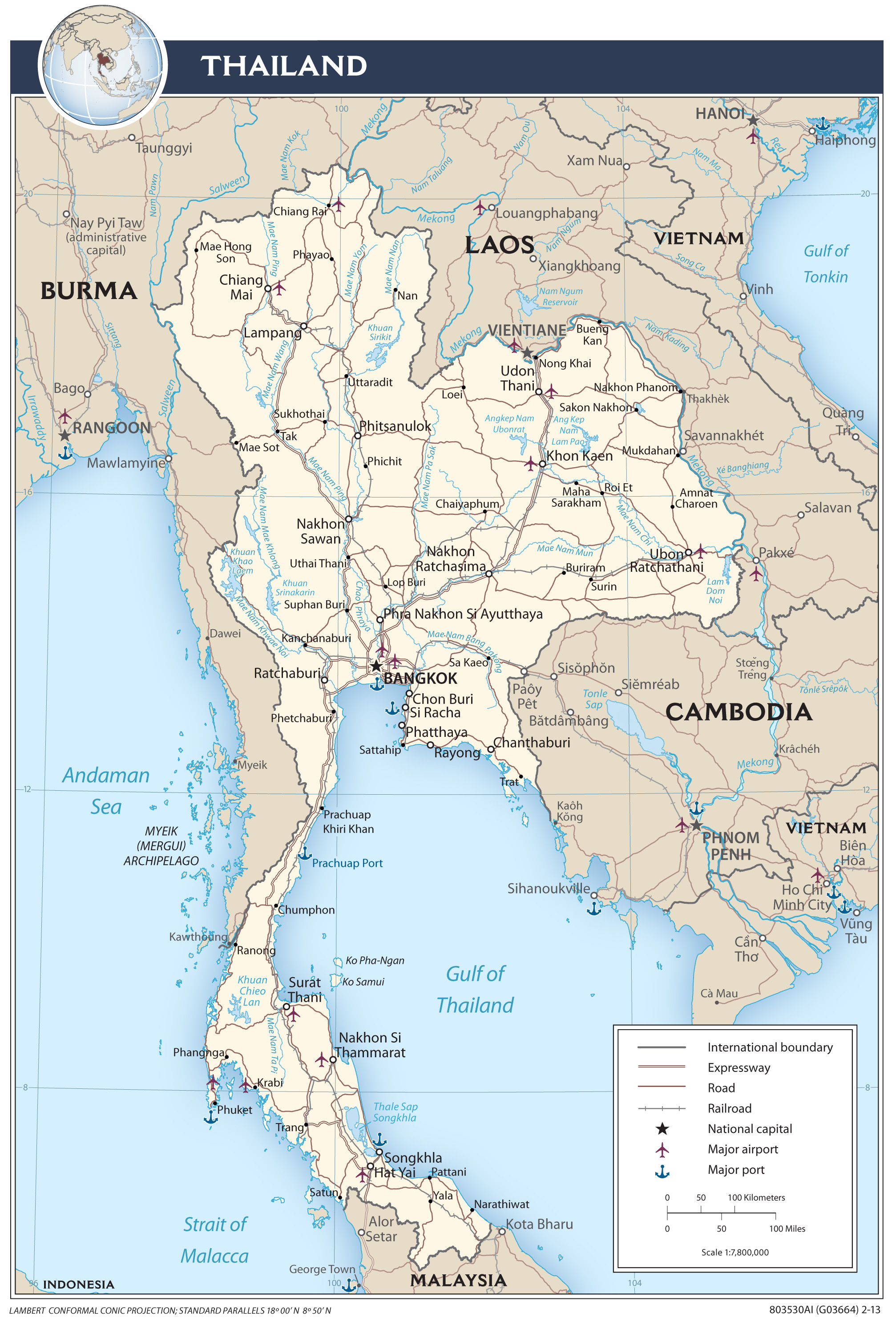 Thailand Maps PerryCastañeda Map Collection UT Library Online - Map of thailand