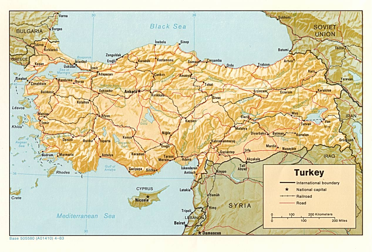 Map Of Europe And Turkey.Turkey Maps Perry Castaneda Map Collection Ut Library Online