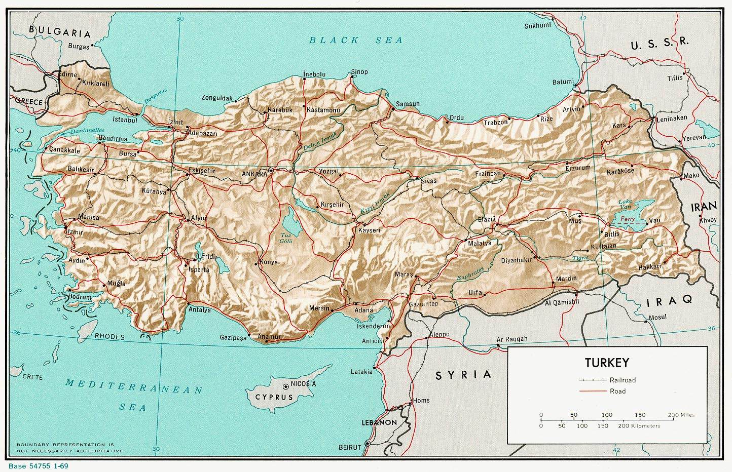 Turkey Maps PerryCastañeda Map Collection UT Library Online - Turkey map