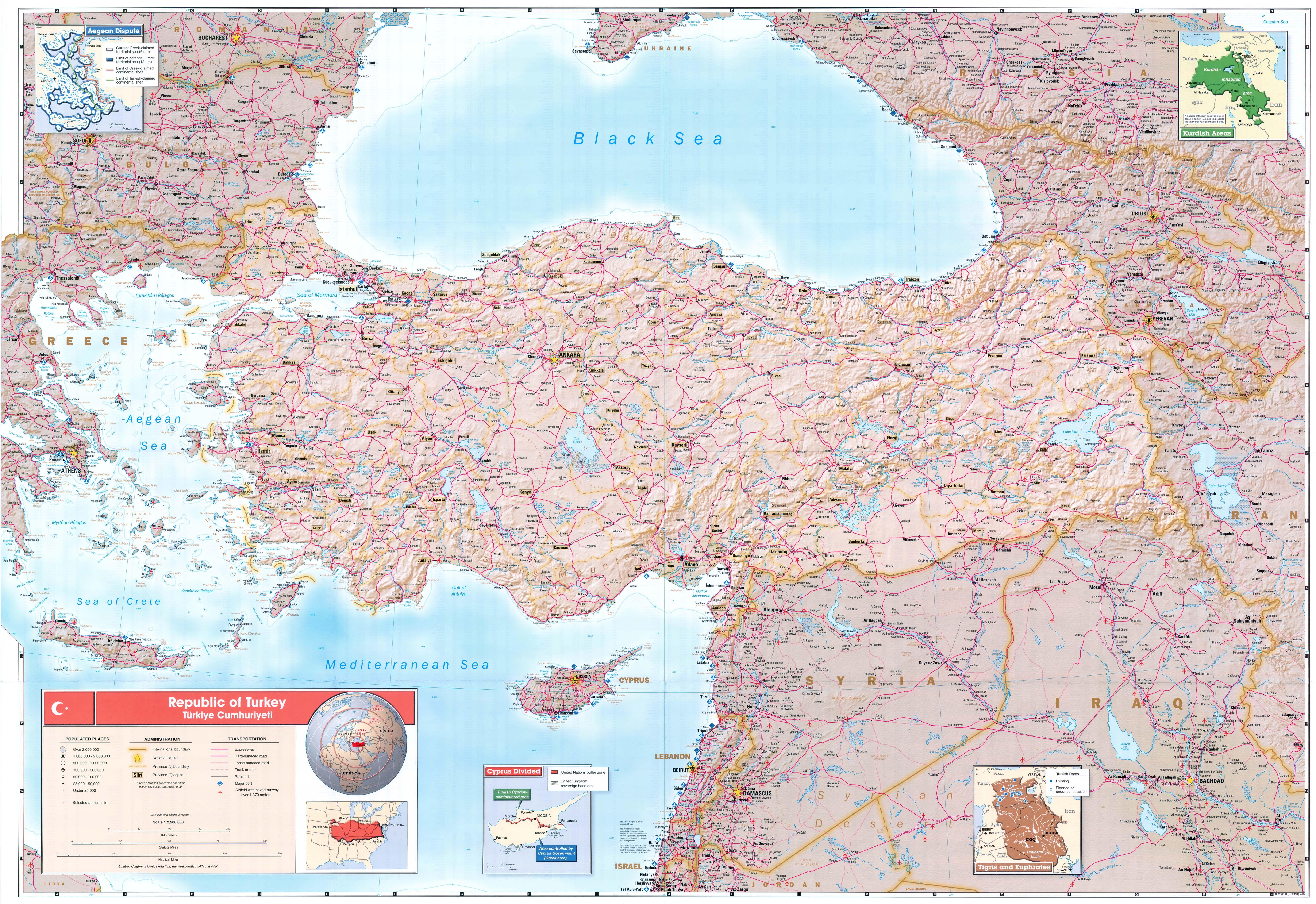 Republic Of Turkey PerryCastañeda Map Collection UT - Turkey map