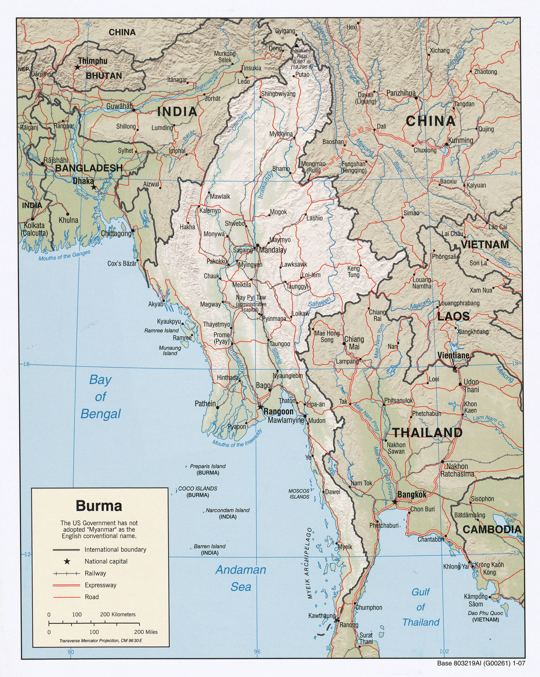 Burma Myanmar Maps PerryCastañeda Map Collection UT Library - Burma map download