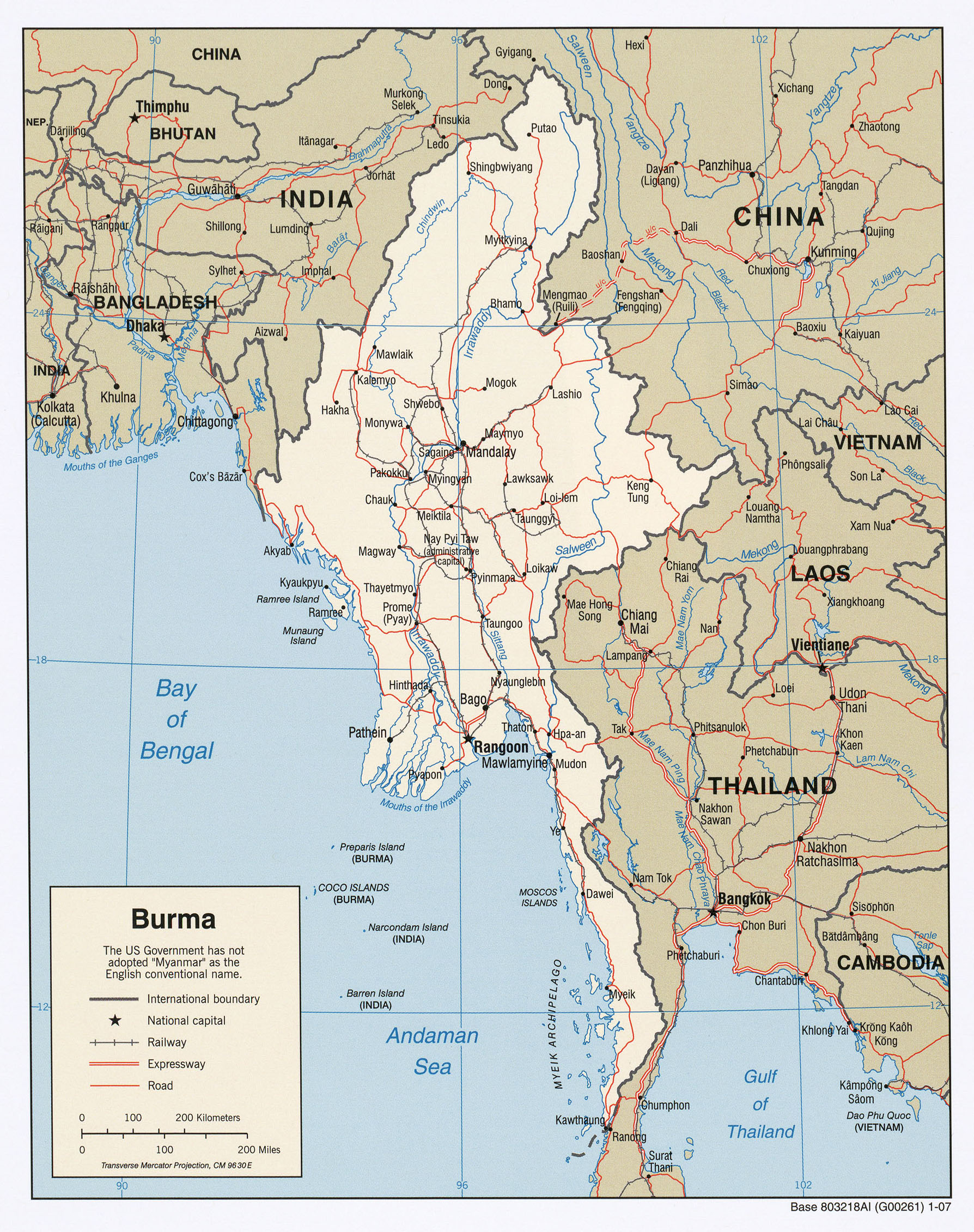 Burma Myanmar Maps PerryCastañeda Map Collection UT Library - Burma map hd pdf