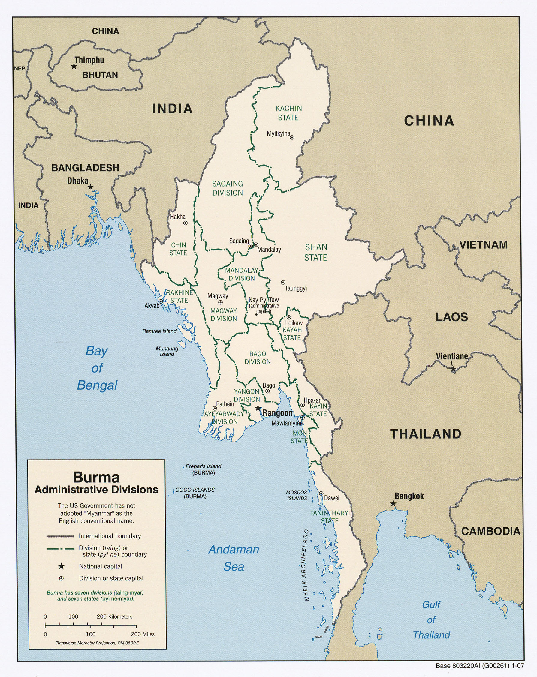 Burma Myanmar Maps PerryCastañeda Map Collection UT Library - Burma in world map