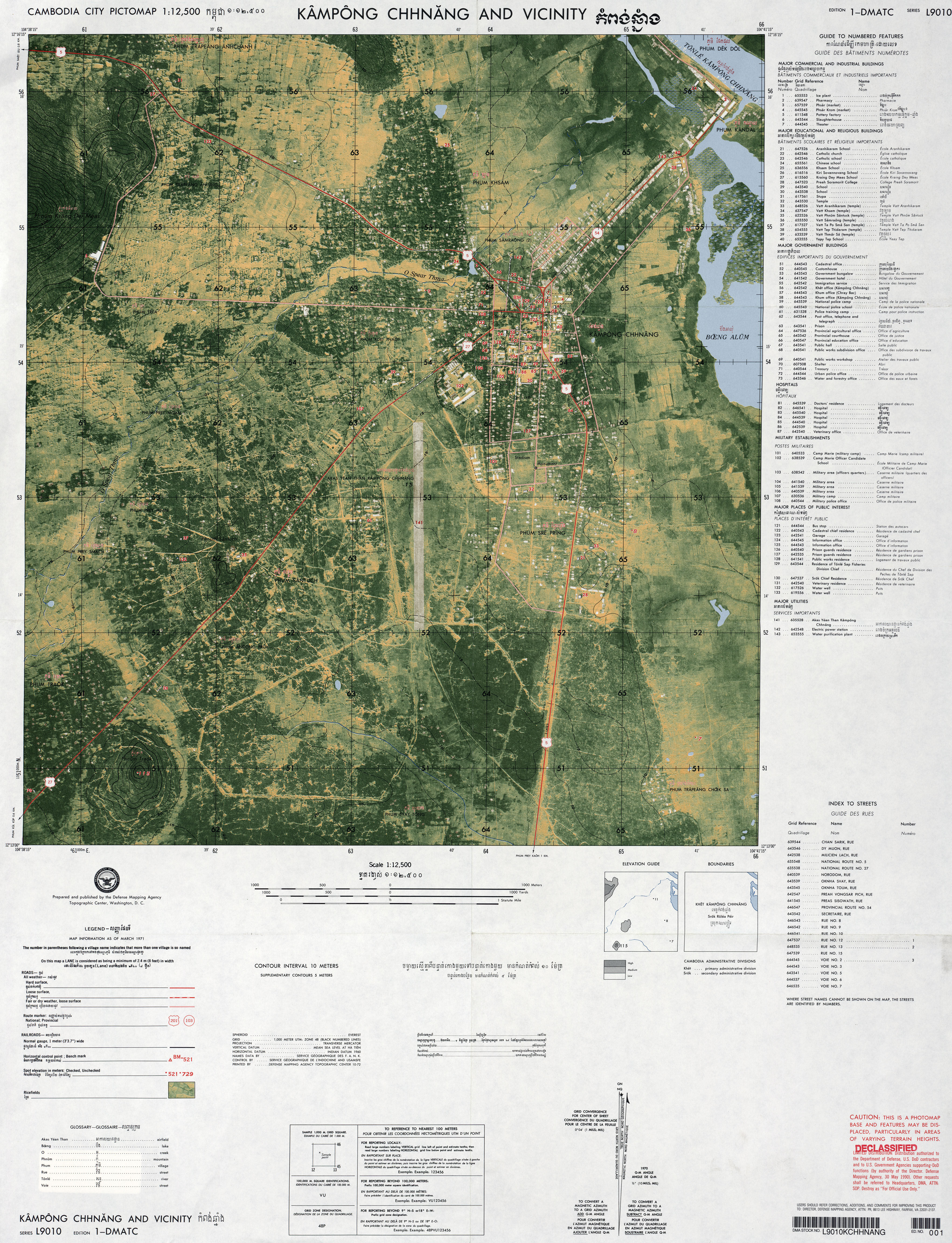 Cambodia Maps PerryCastañeda Map Collection UT Library Online - Us defense mapping agency