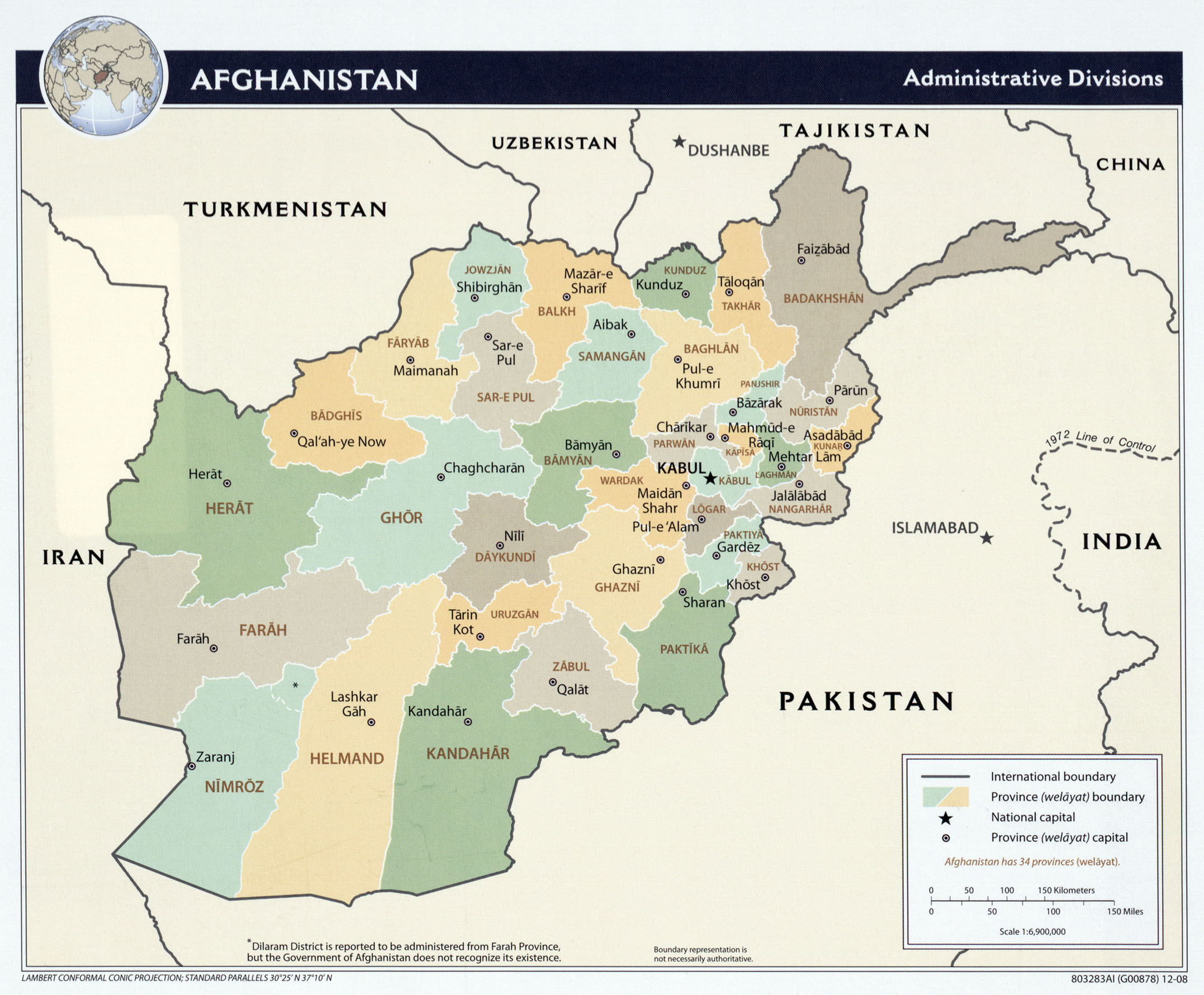 Afghanistan Maps Perry Castaneda Map Collection Ut Library Online