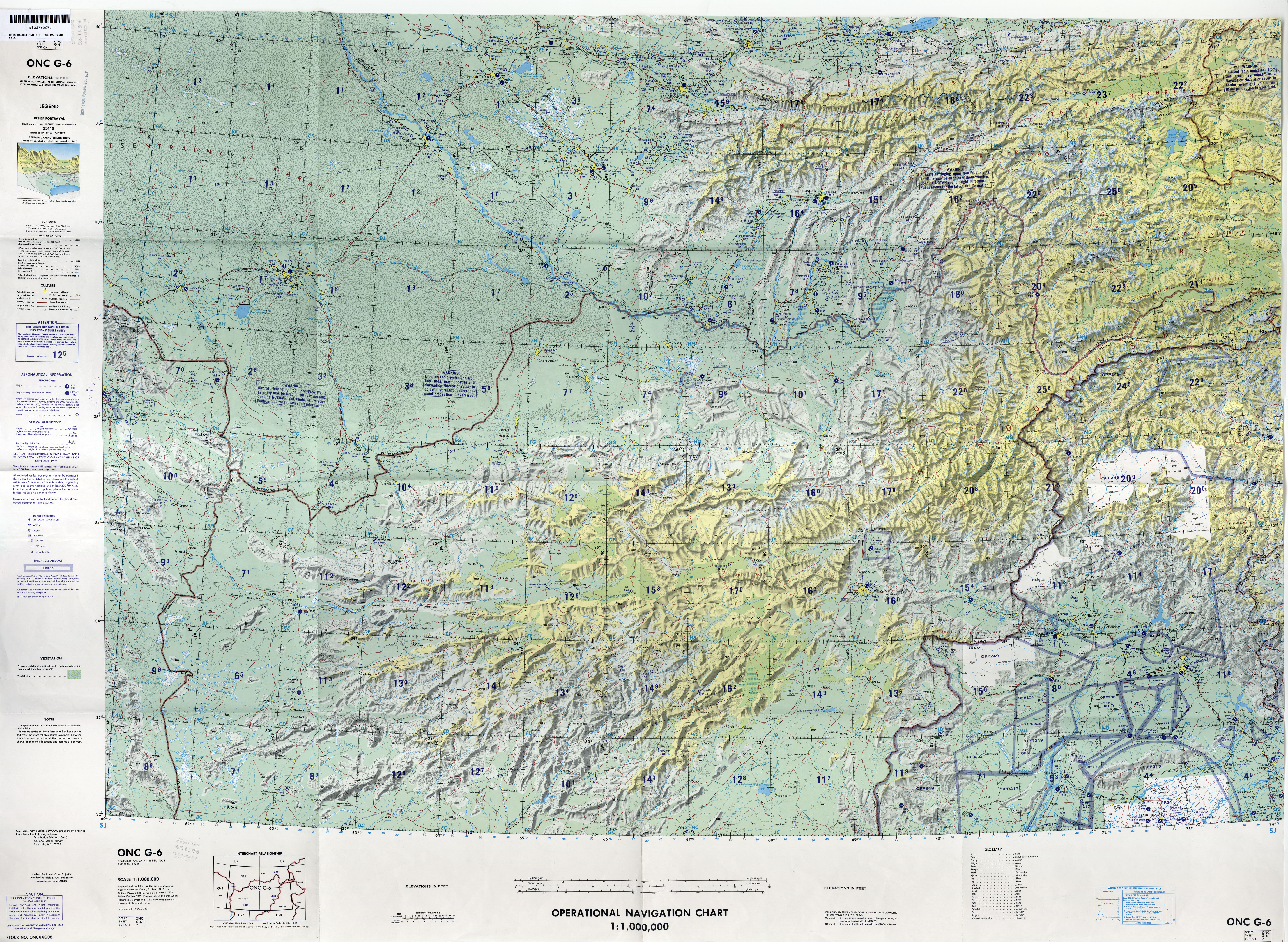 Middle East - Operational Navigation Charts - Perry-Castañeda Map