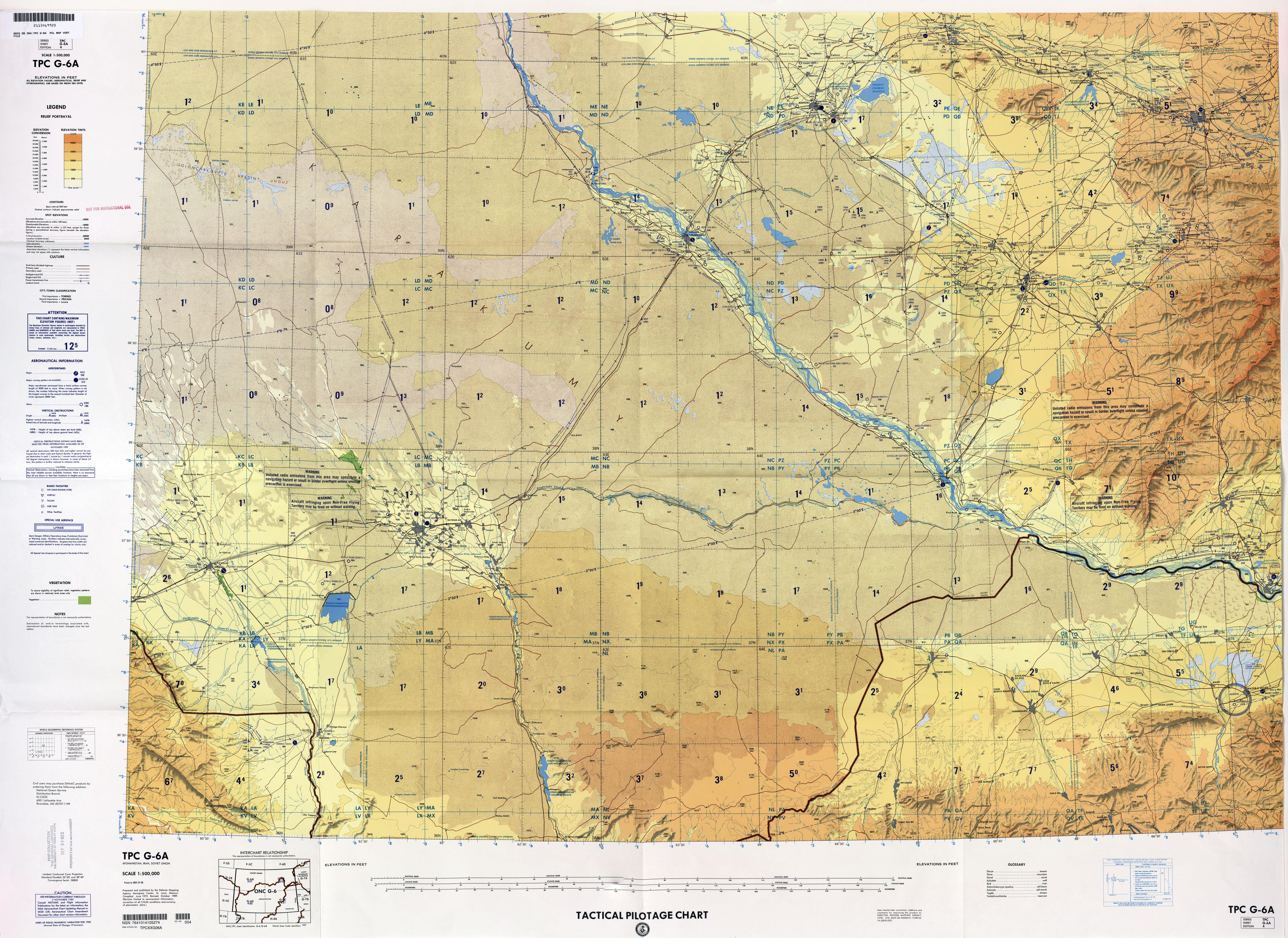 Afghanistan Aeronautical Charts PerryCasta eda Map Collection – Afghanistan Iran Map