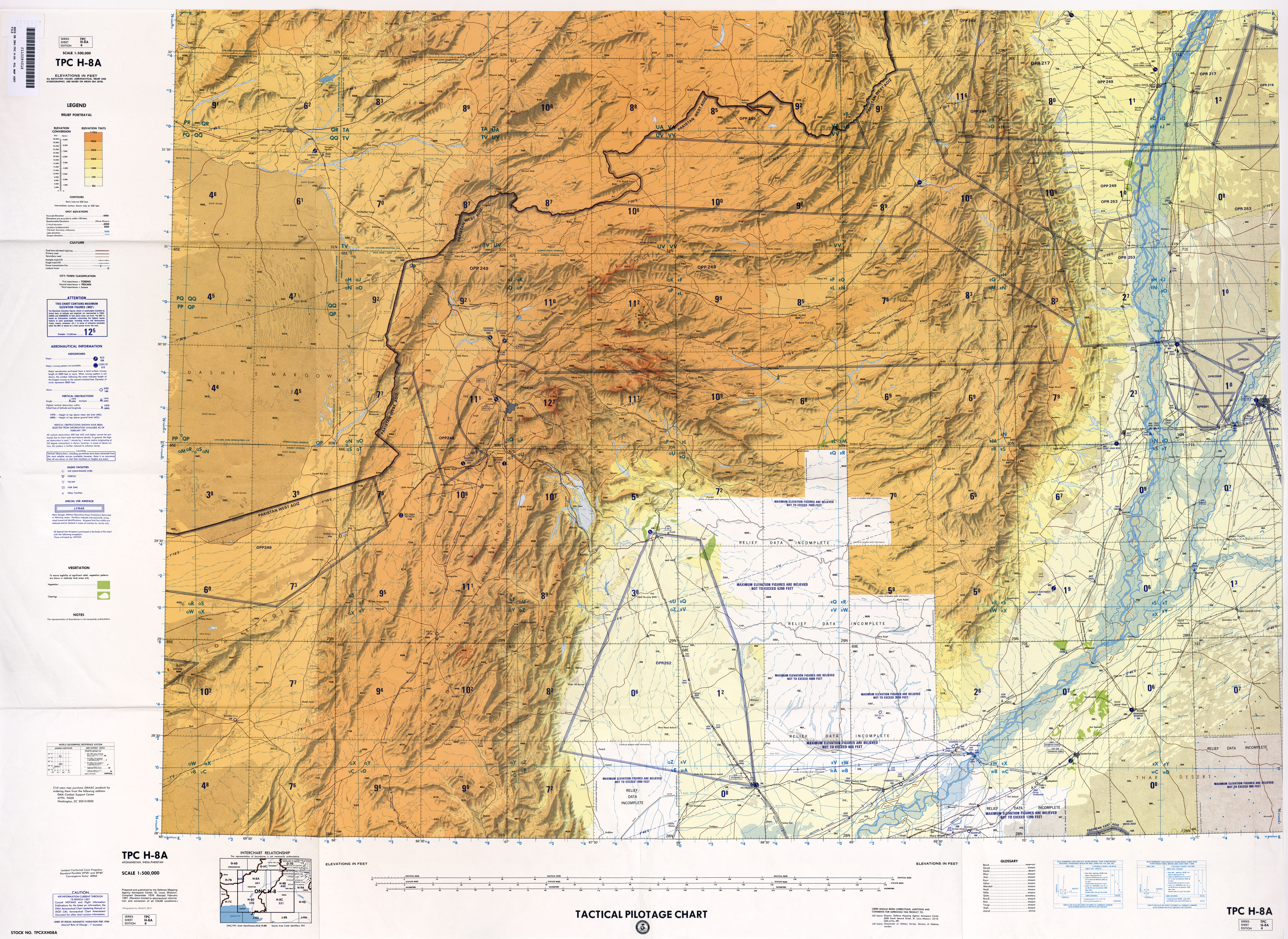 Afghanistan Aeronautical Charts - Perry-Castañeda Map Collection ...