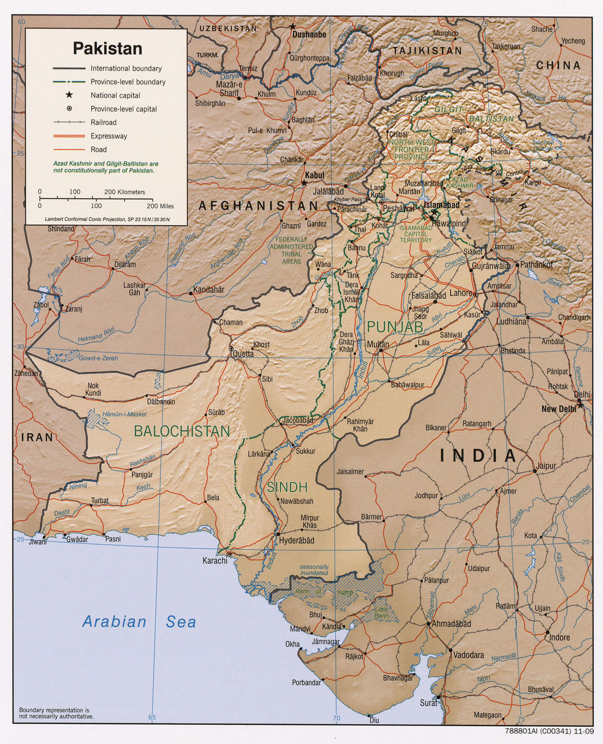 Pakistan Maps PerryCastañeda Map Collection UT Library Online - Map of pakistan