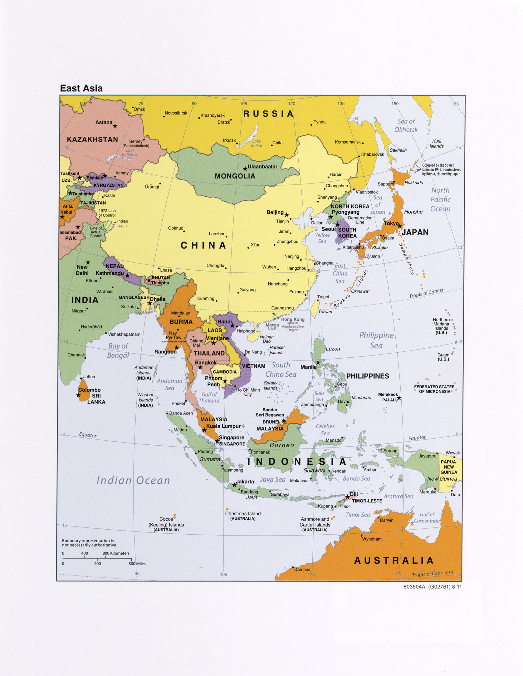 Political Map Of Central And East Asia.Asia Maps Perry Castaneda Map Collection Ut Library Online