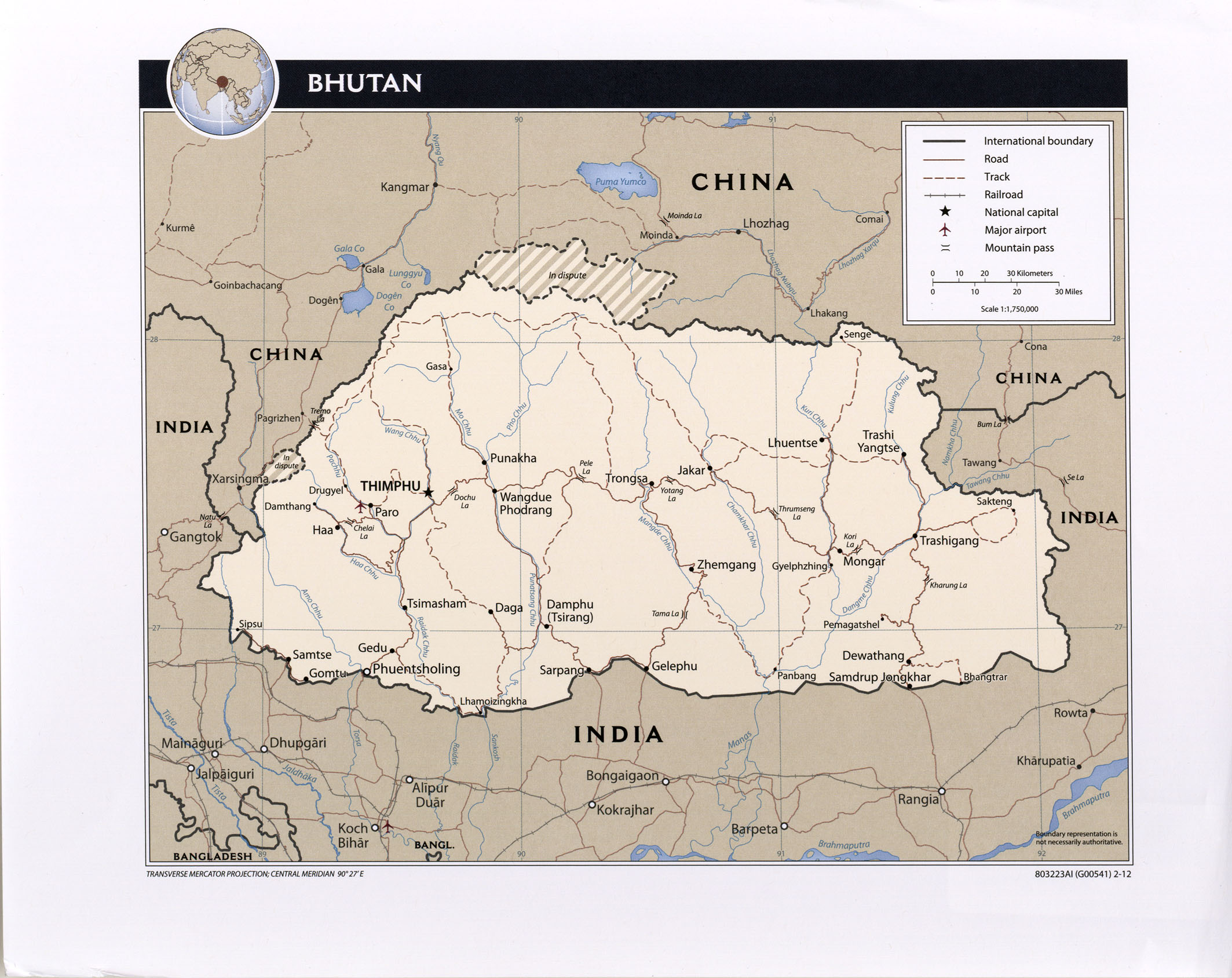 Bhutan Maps - Perry-Castañeda Map Collection - UT Liry Online on map of chile, united states of america, map of india, map of peru, map of sri lanka, map of japan, map of nepal, map of myanmar, map of k2, jetsun pema, map of china, map of middle east, map of iraq, map of singapore, map of tibet, south asia, sri lanka, map of brunei, map of philippines, map of liechtenstein, map of bangladesh, map of turkey, map of himalayas, map of asia,