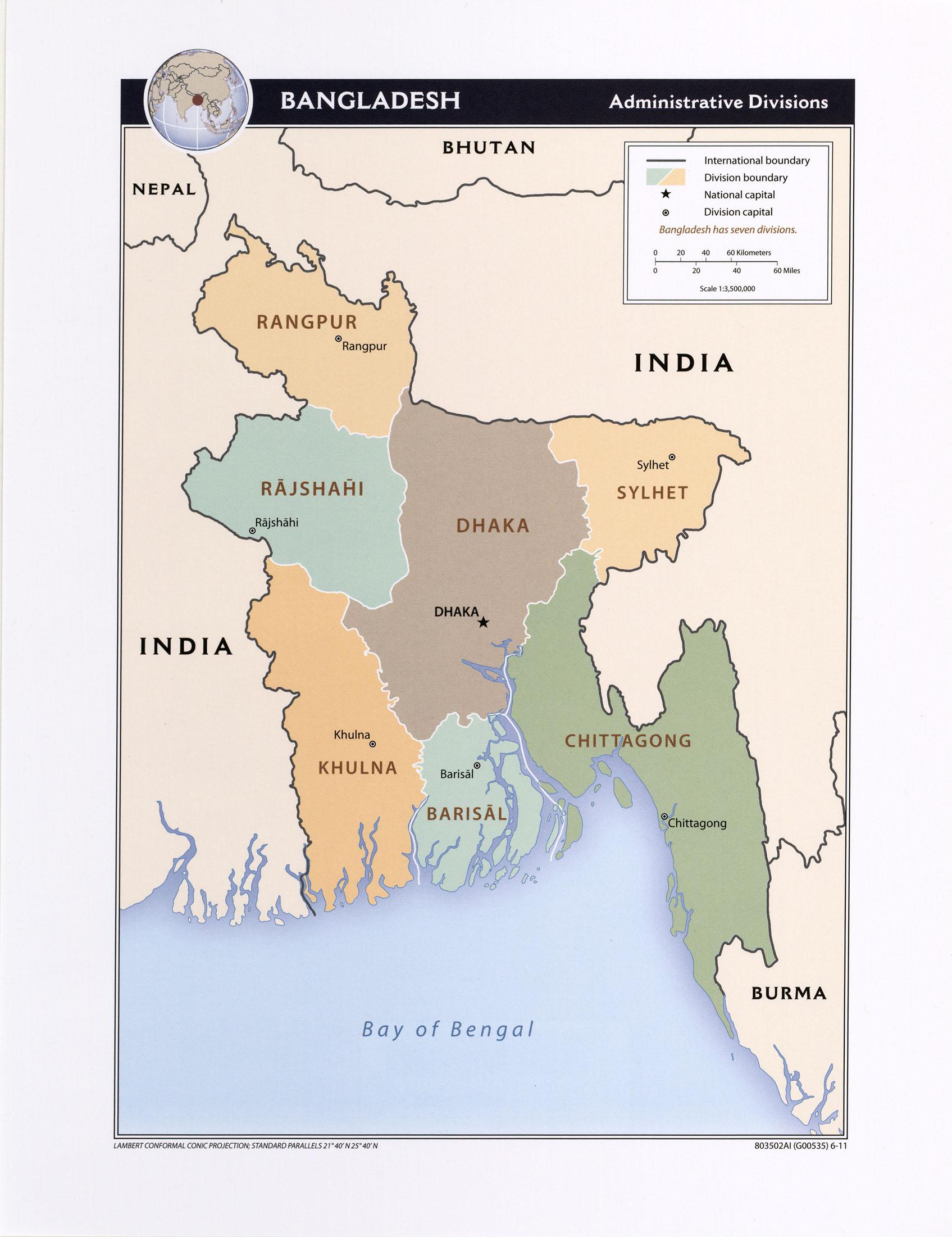 Bangladesh Maps PerryCastañeda Map Collection UT Library Online - Bangladesh map