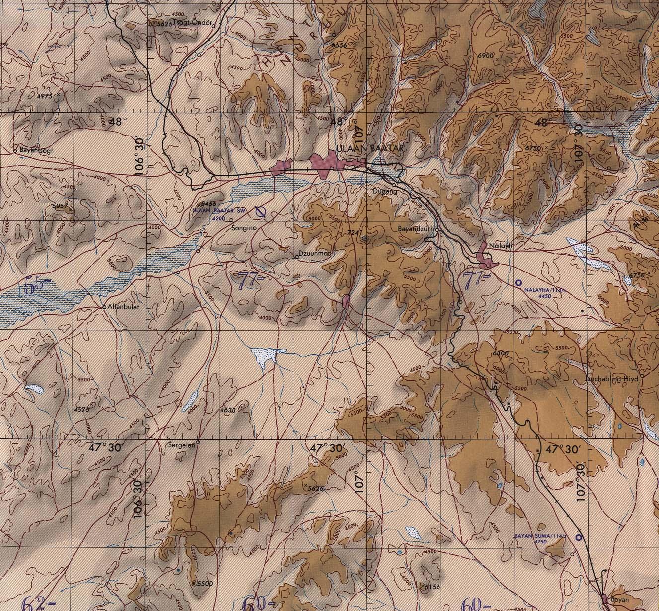 mongolia maps - perry-casta u00f1eda map collection