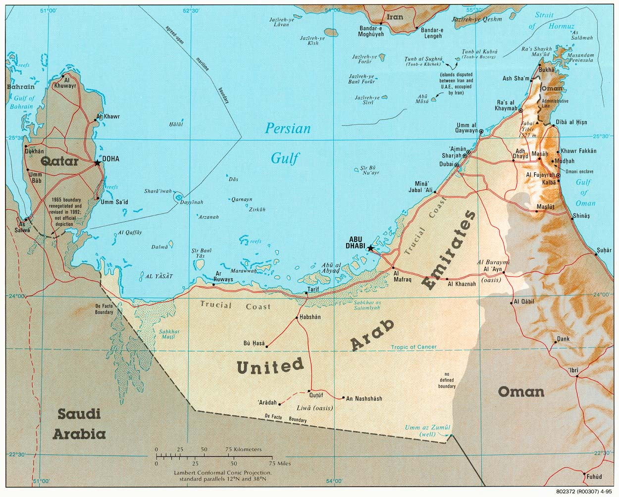 Maps Update 500320 Map of United Arab Emirates and Saudi Arabia – United Arab Emirates Google Maps