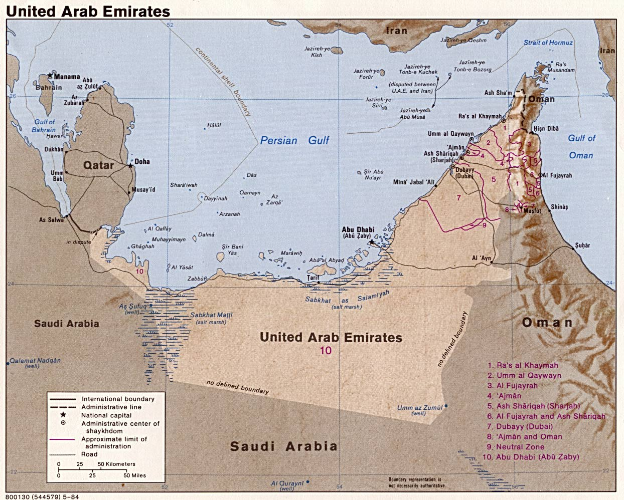 united arab emirates maps