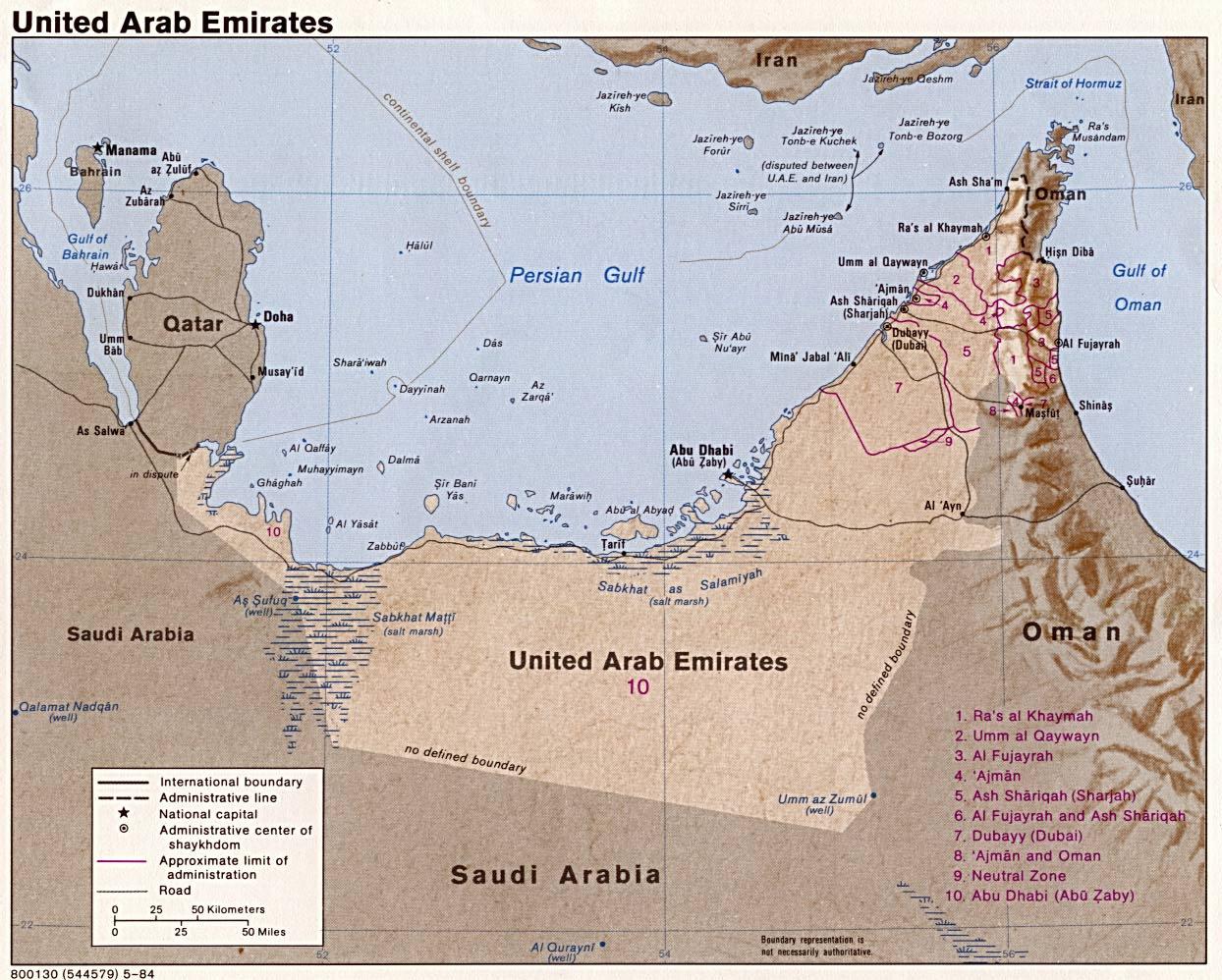 United Arab Emirates Maps PerryCasta eda Map Collection UT – Uae Map Pdf