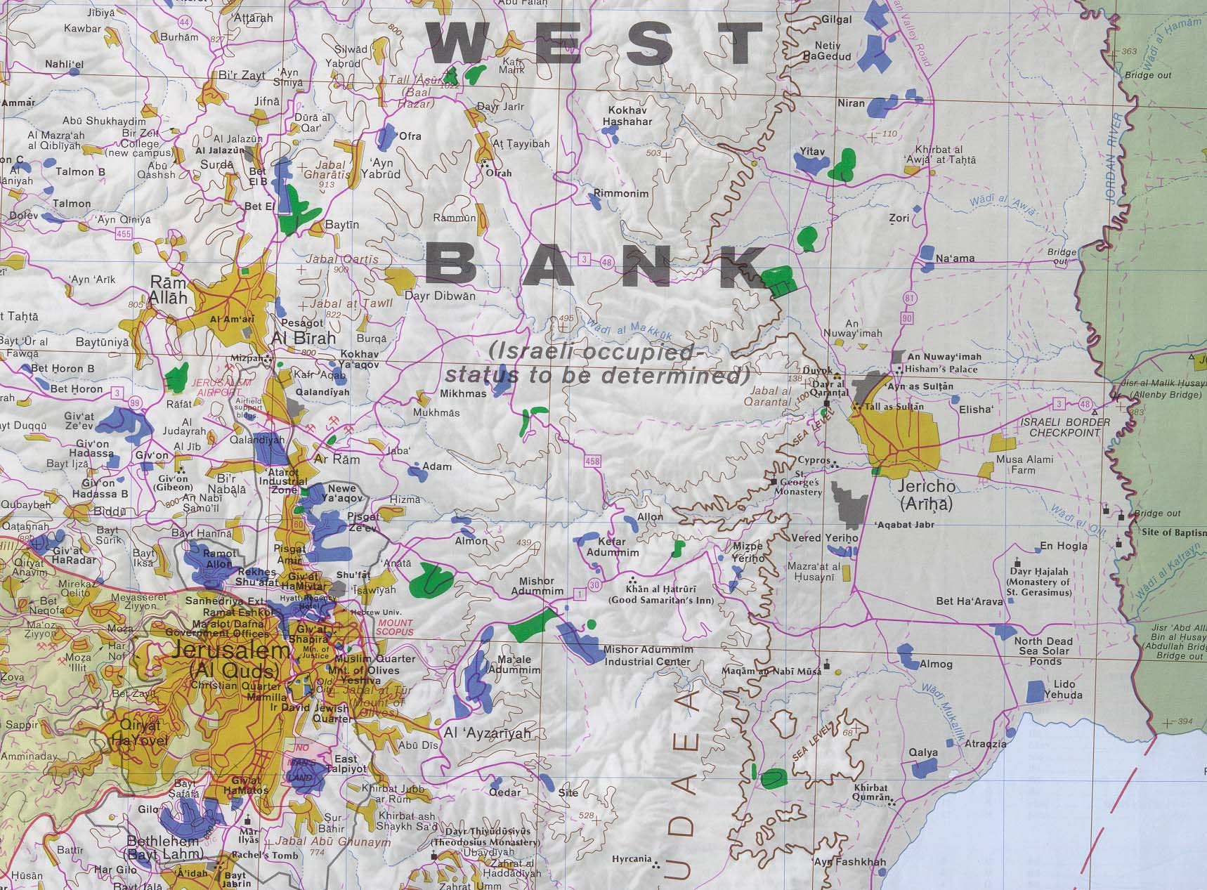 West bank and gaza maps perry castaeda map collection ut west bank and gaza maps gumiabroncs Image collections