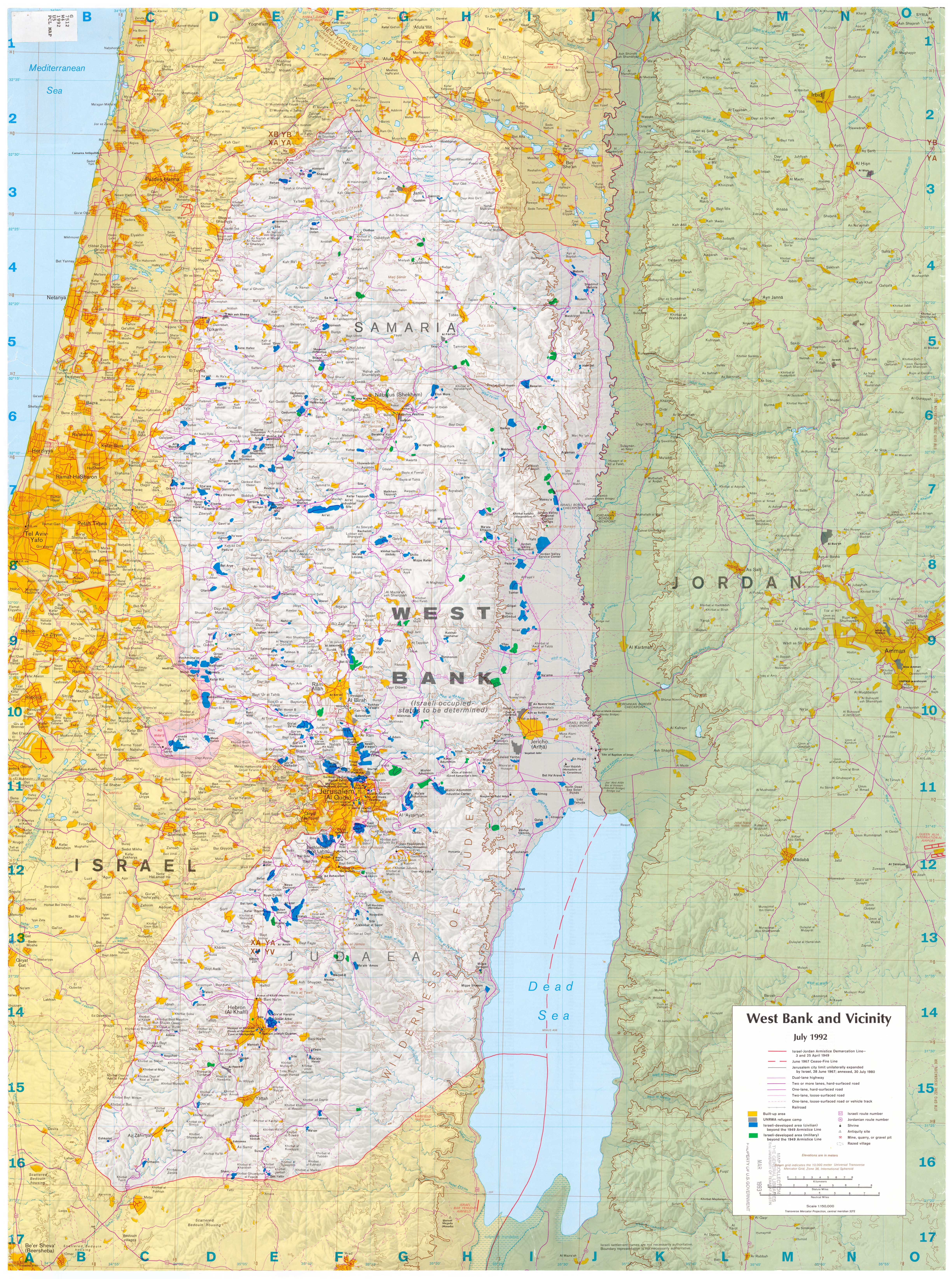 Israel Maps PerryCastañeda Map Collection UT Library Online - Outline Map Of West Region Of Us