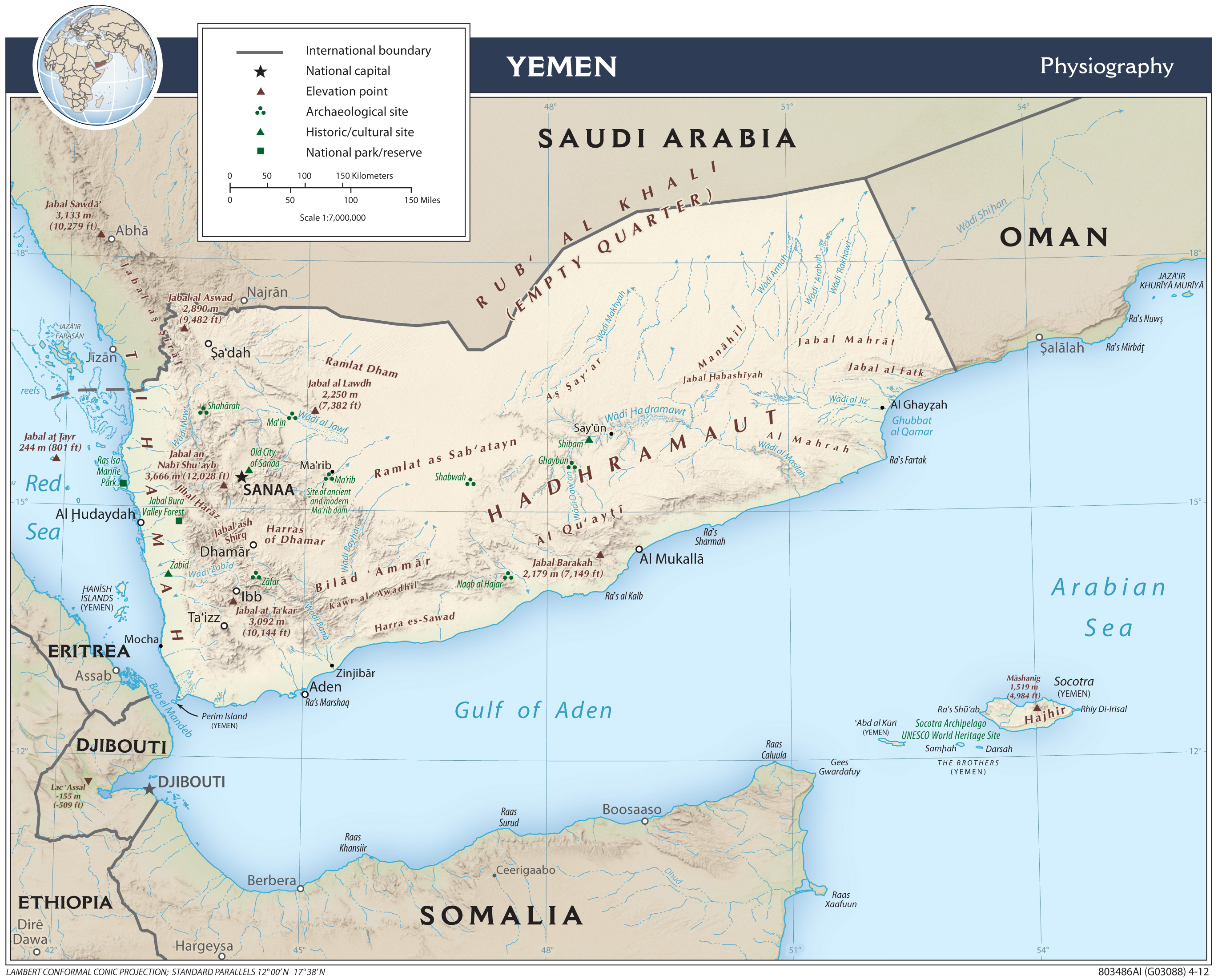 Location Of Yemen On World Map.Yemen Maps Perry Castaneda Map Collection Ut Library Online