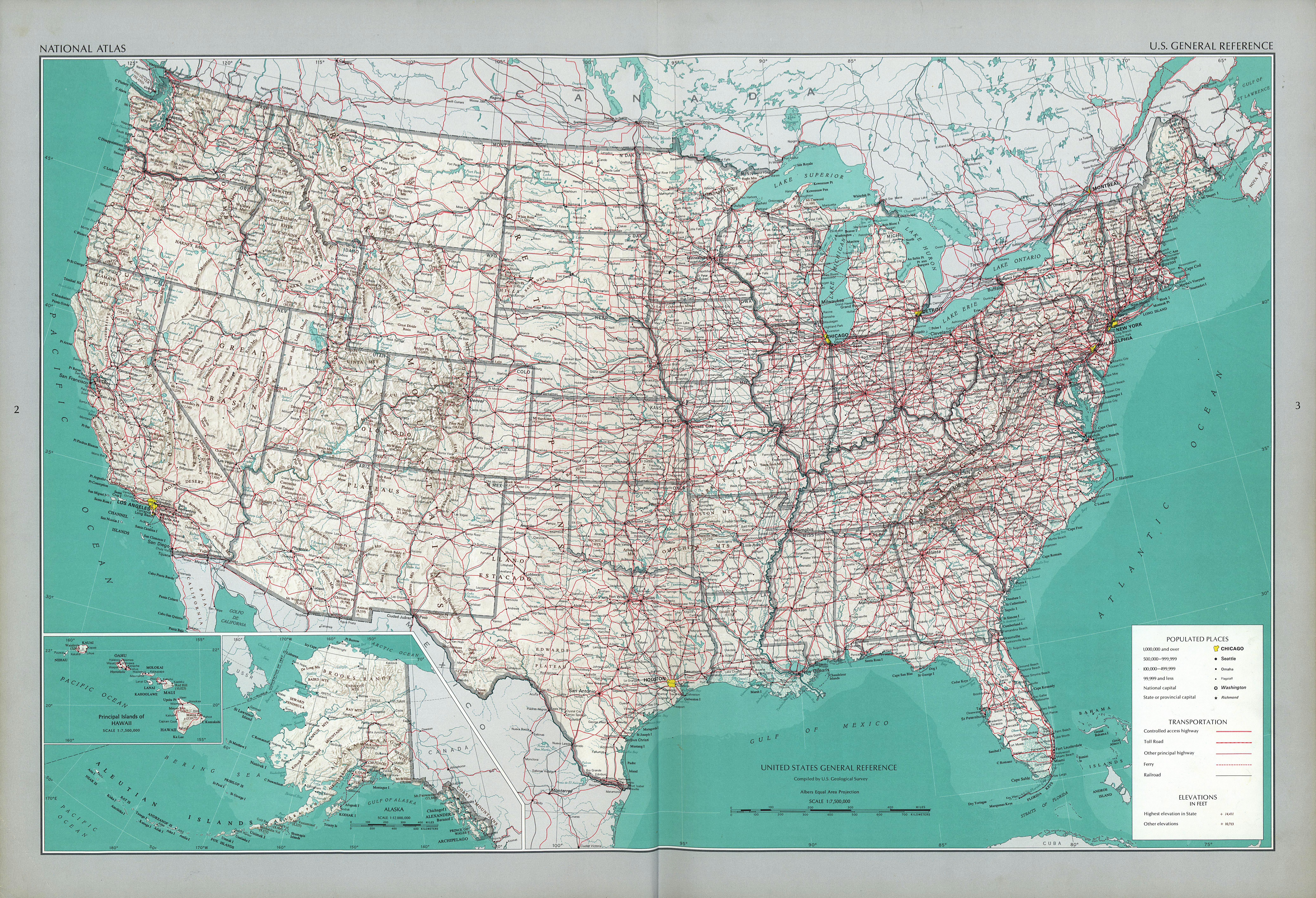 The National Atlas Of The United States Of America Perry - Map of us with interstates online