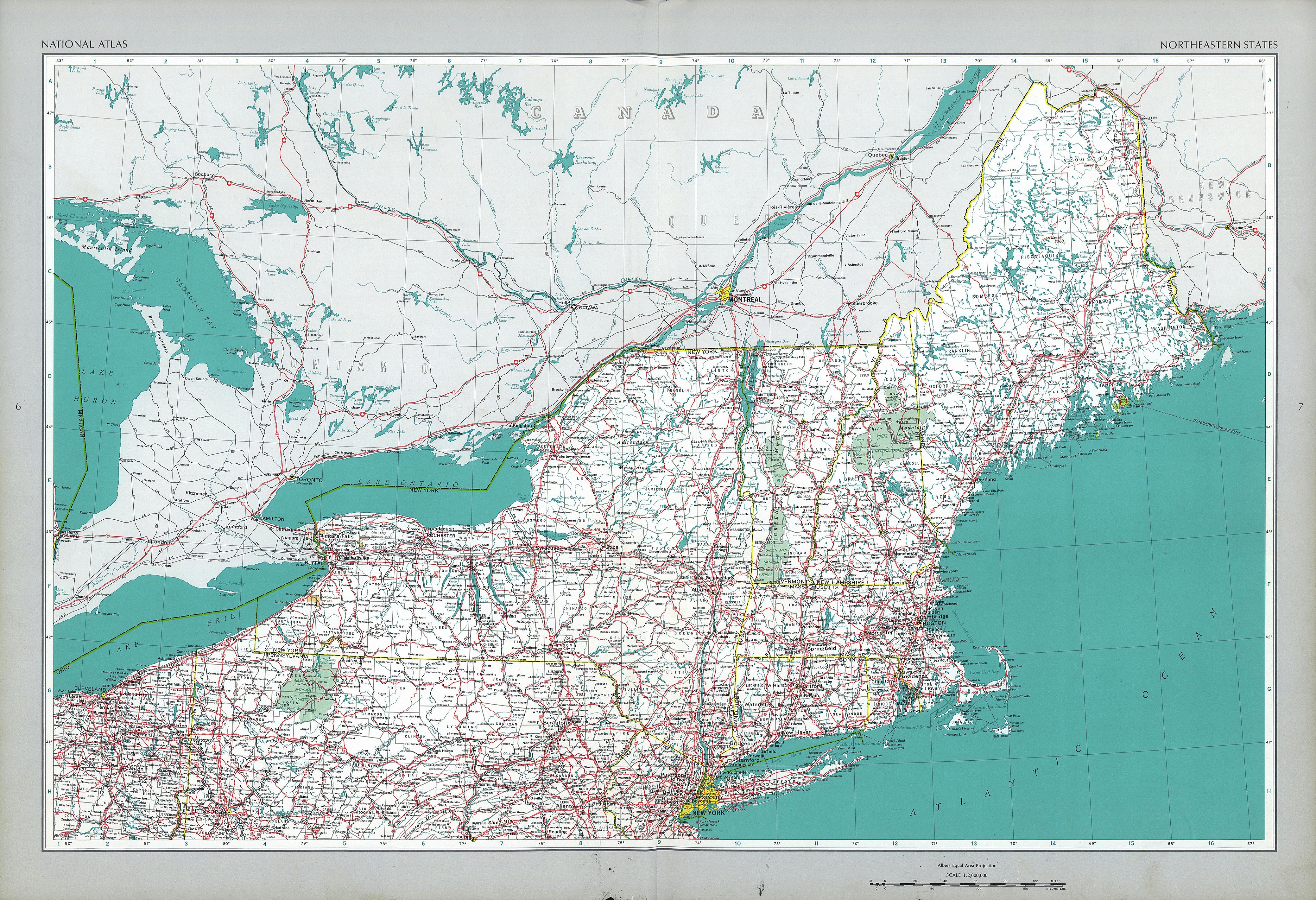 Map Northeast Usa Millstonehills Map Northeast Usa Millstonehills - Eastern us road maps with states and cities