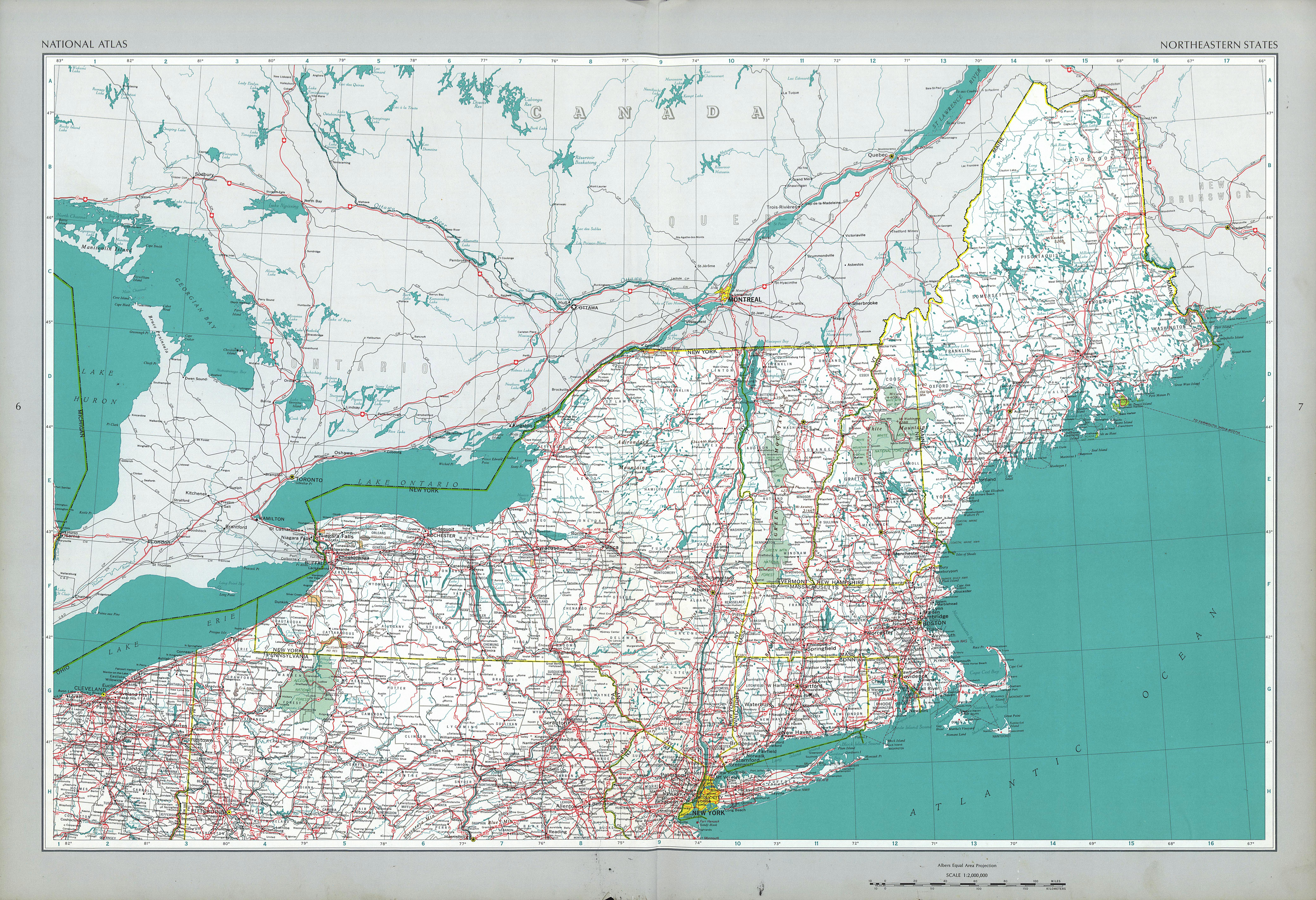 The National Atlas Of The United States Of America Perry Castaneda - Atlas-us-map
