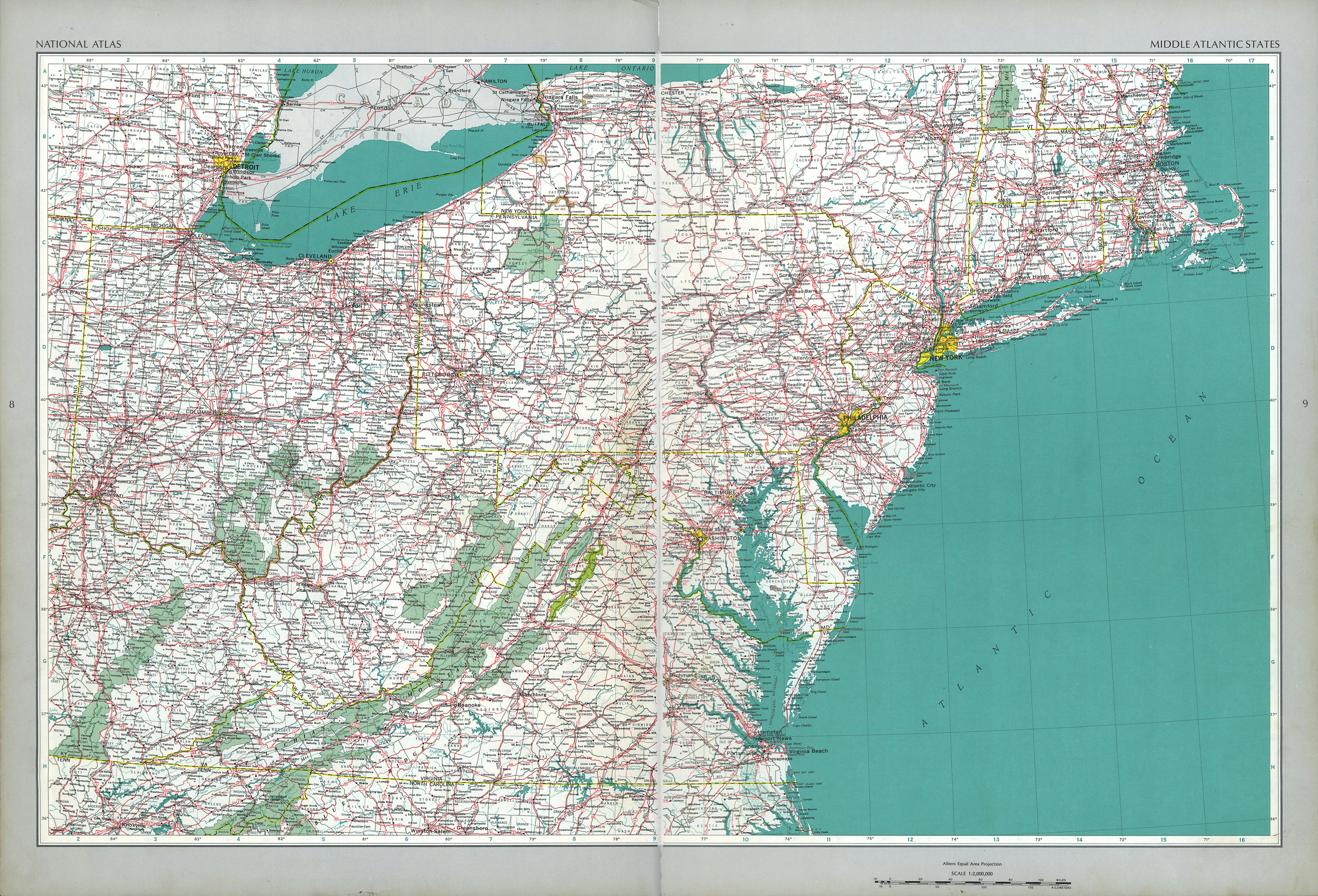 The National Atlas Of The United States Of America Perry - Road atlas map of usa